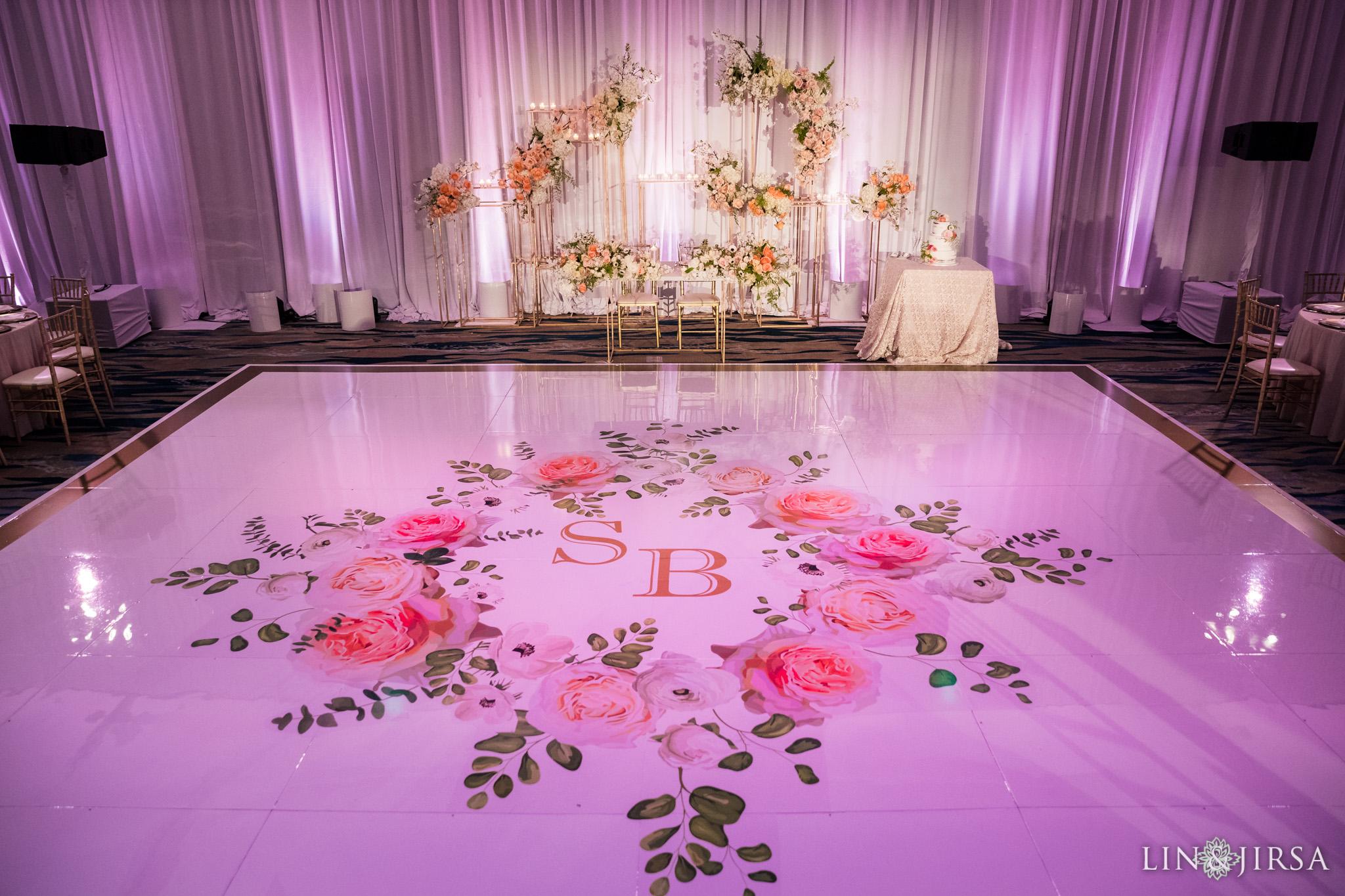 43 pasea hotel and spa huntington beach indian wedding reception photography