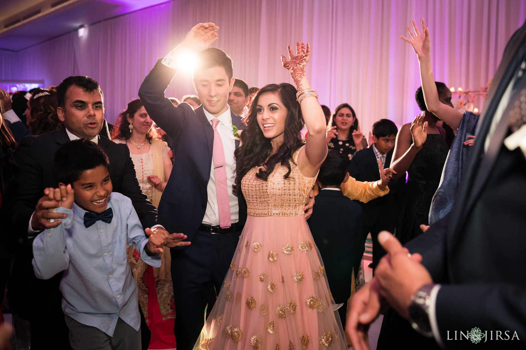 55 pasea hotel and spa huntington beach indian wedding reception photography