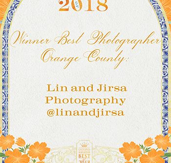 Best Orange County Wedding Photographer of 2018 Award California Wedding Day Lin and Jirsa