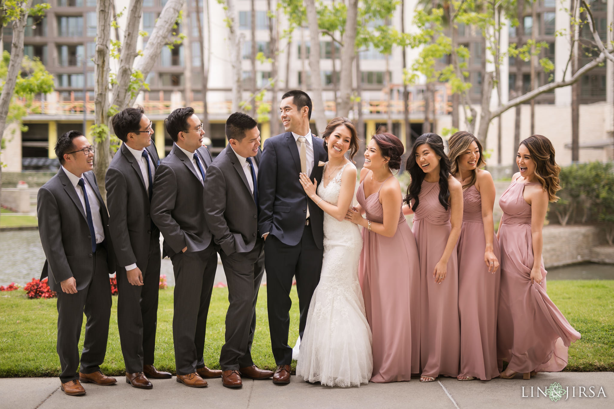 15 turnip rose promenade orange county wedding party photography