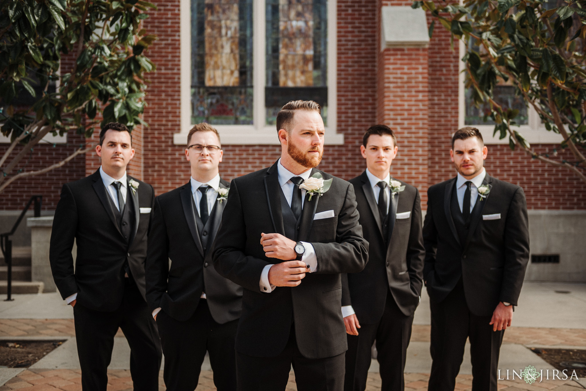 21 Womans Club Orange County Groomsmen Wedding Photography