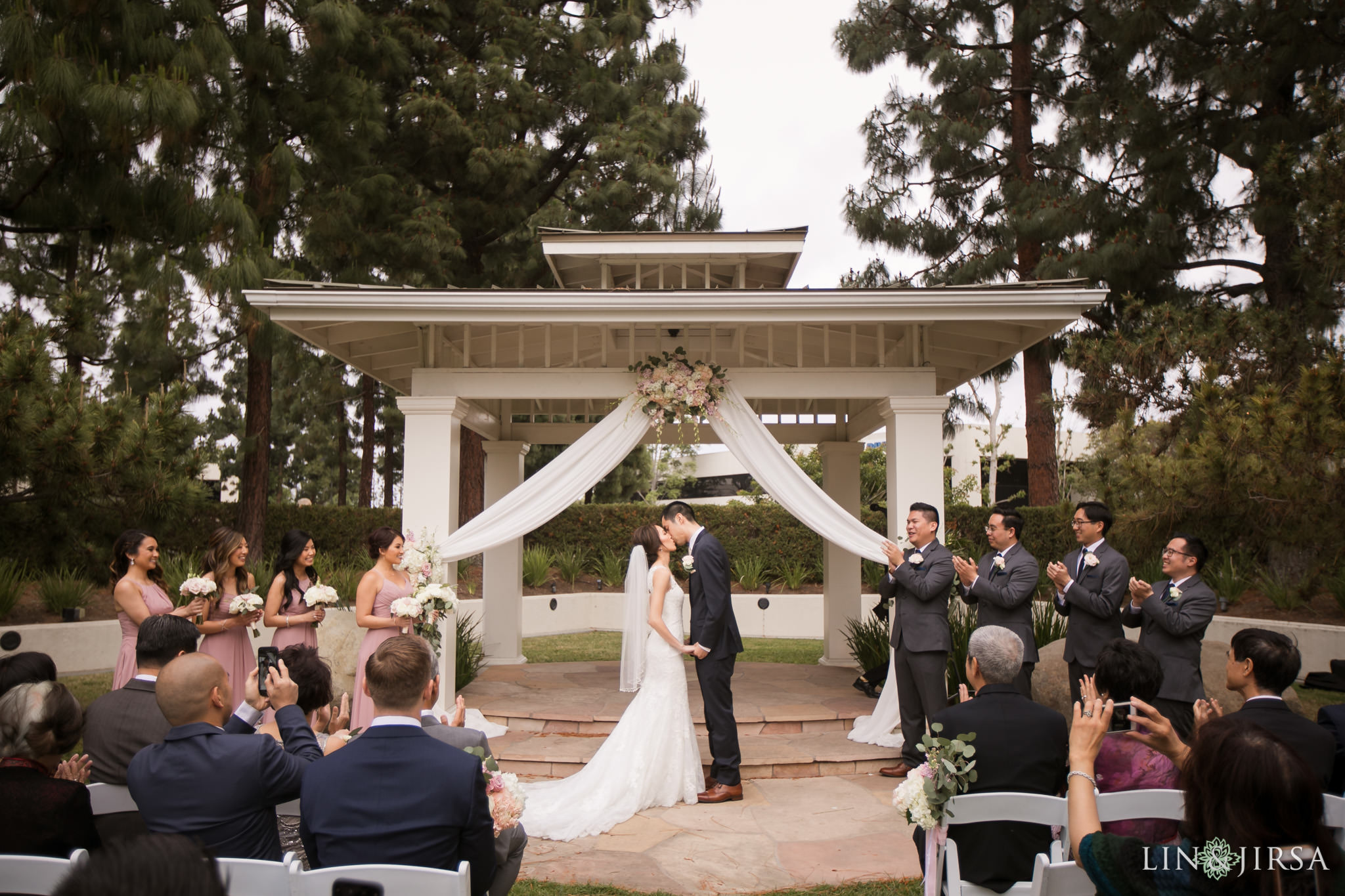 21 turnip rose promenade orange county wedding ceremony photography