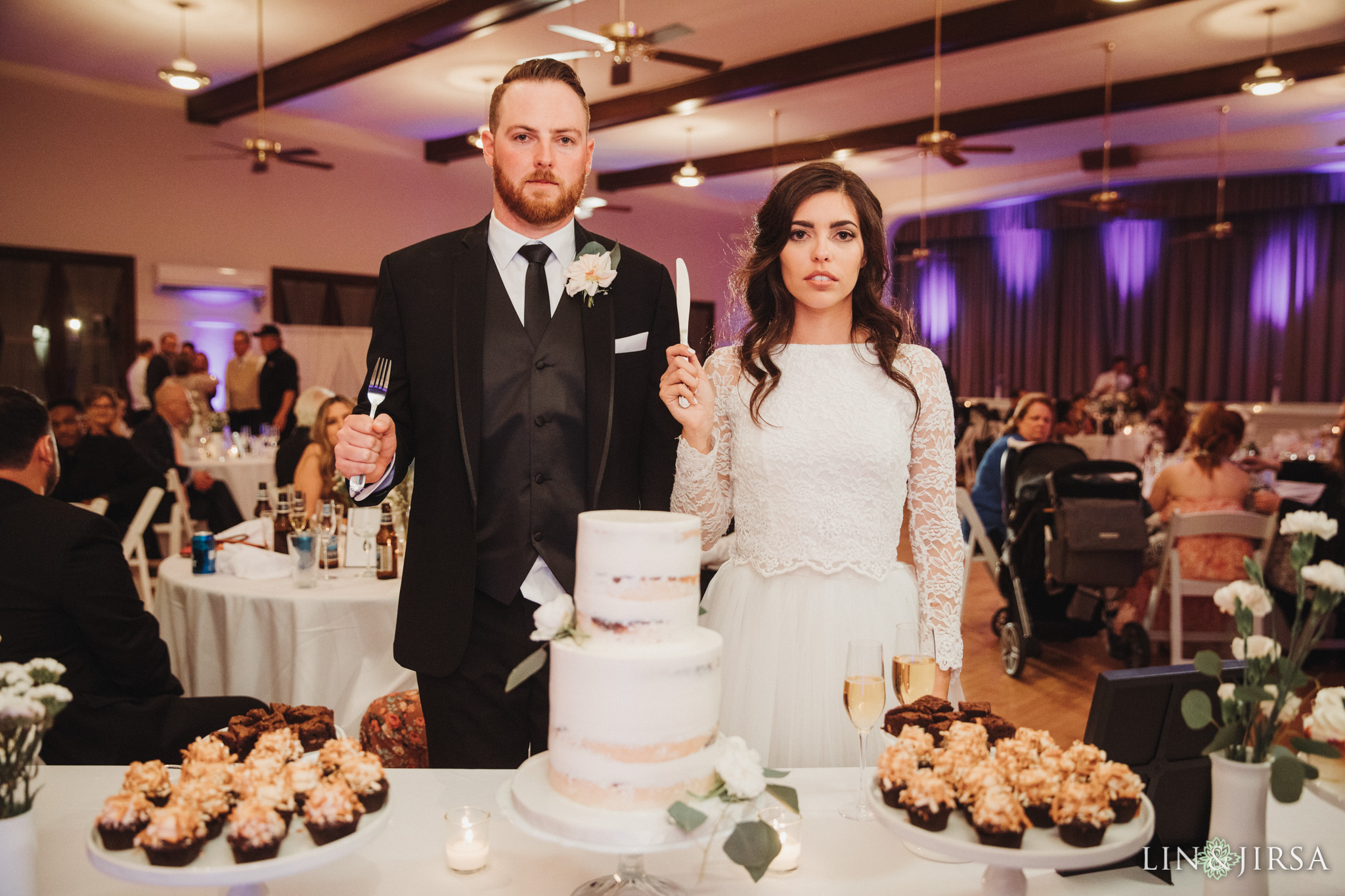 58 Womans Club Orange County American Gothic Wedding Reception Photography