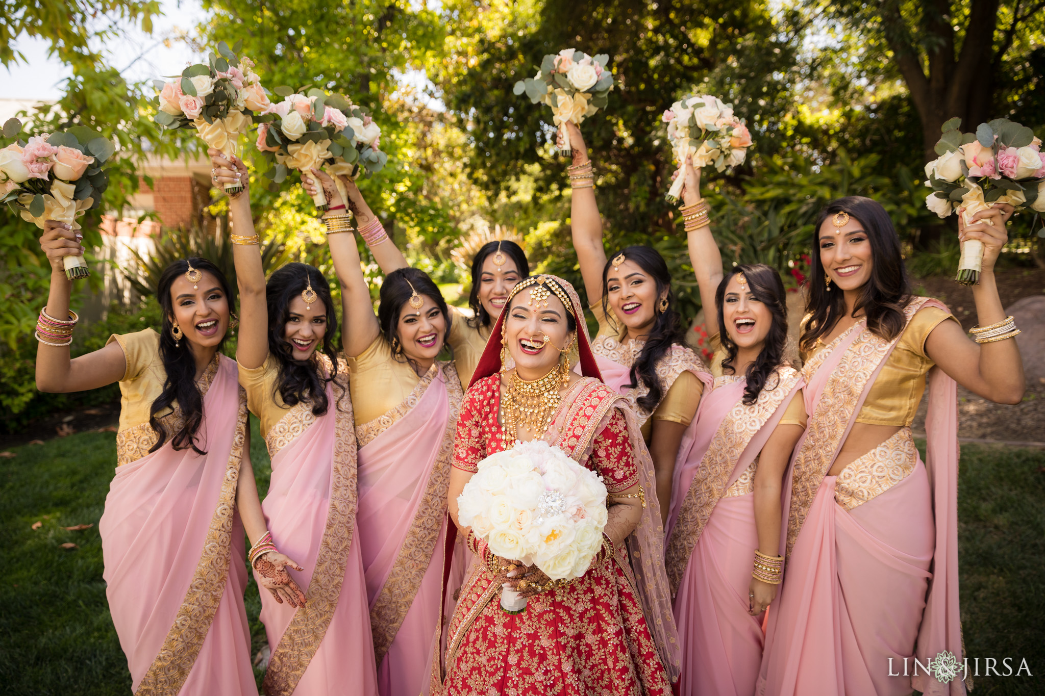 07 four seasons westlake village indian wedding bridesmaids photography