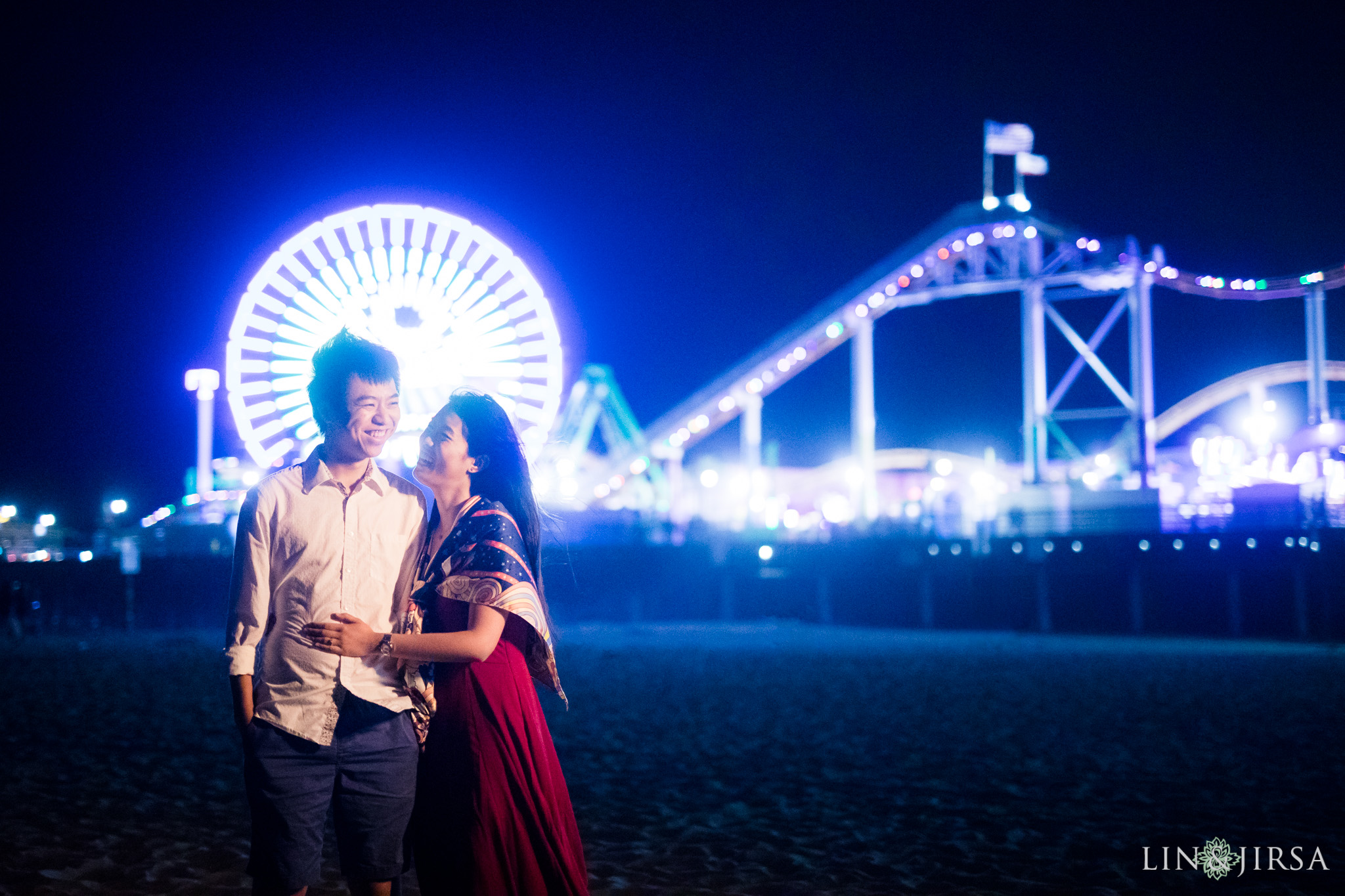 14 santa monica pier los angeles engagement photography