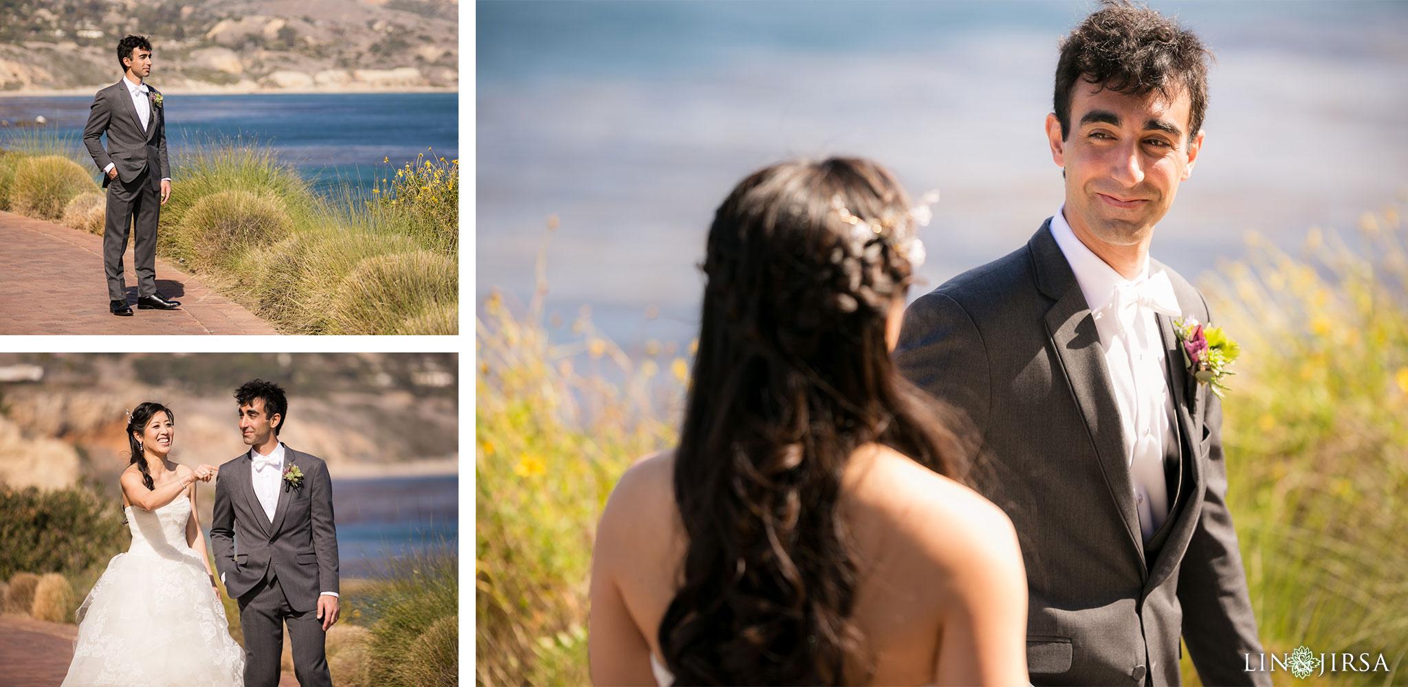 14 terranea resort rancho palos verdes first look wedding photography