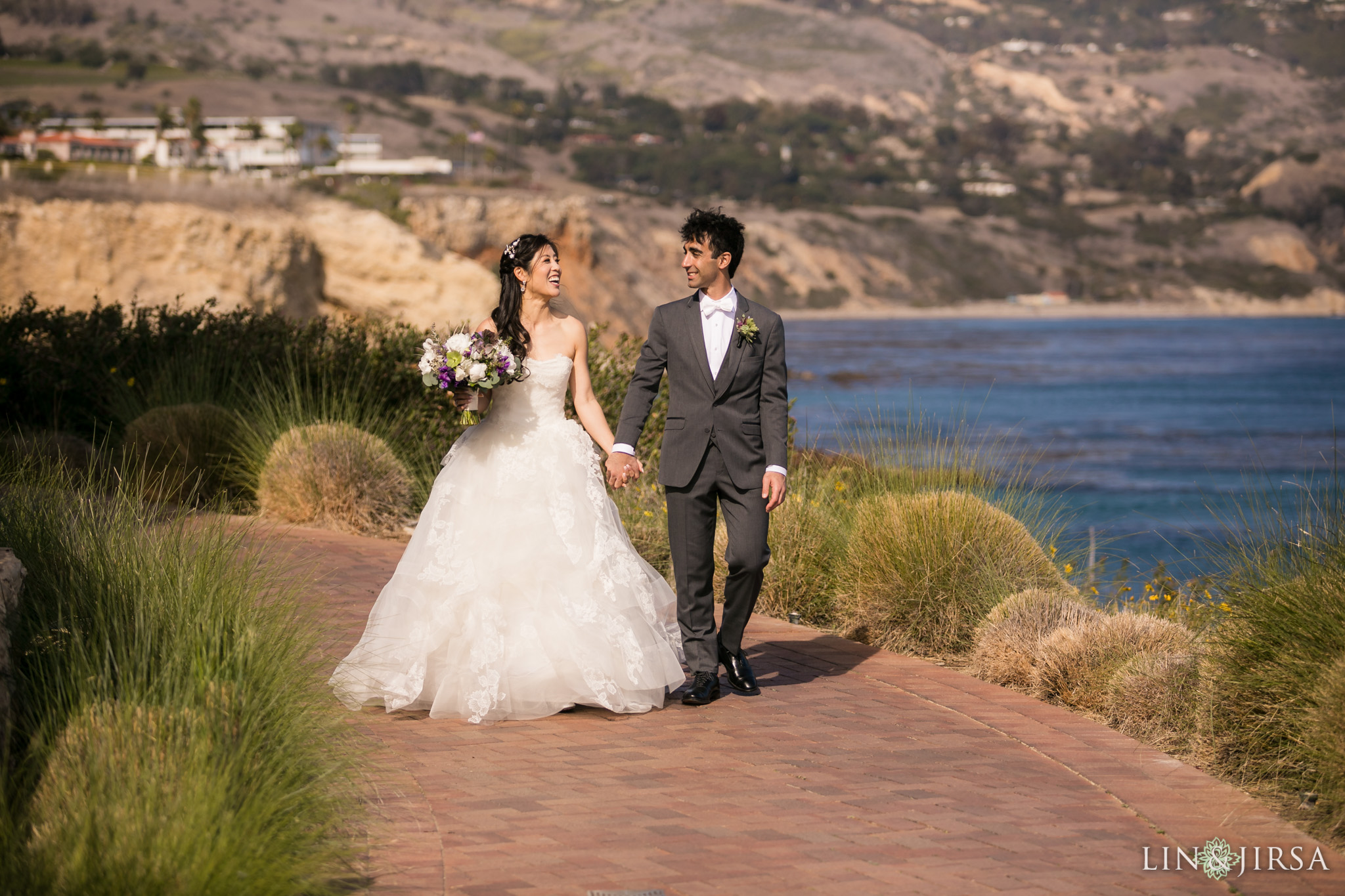 16 terranea resort rancho palos verdes first look wedding photography