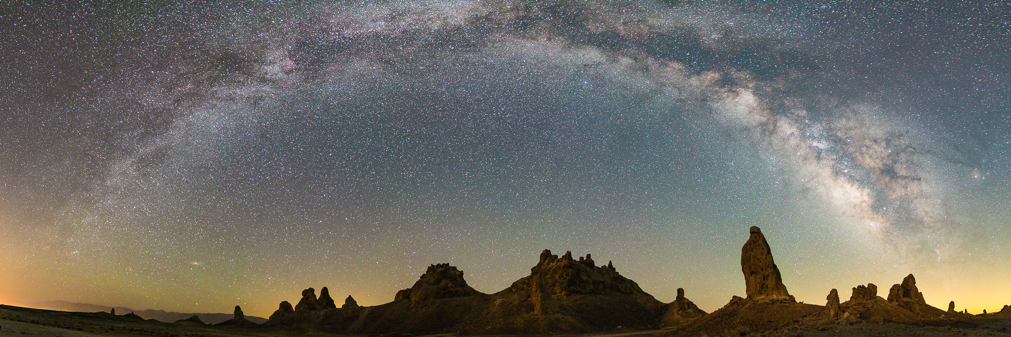 photographing milky way pano