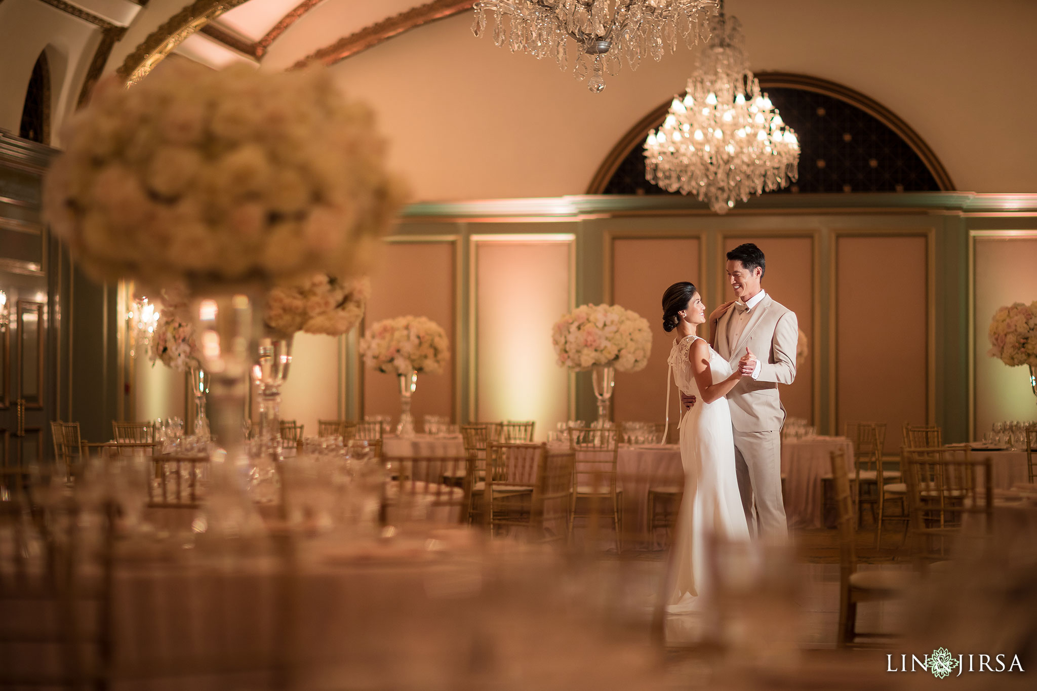 13 langham pasadena chinese couple wedding reception photography