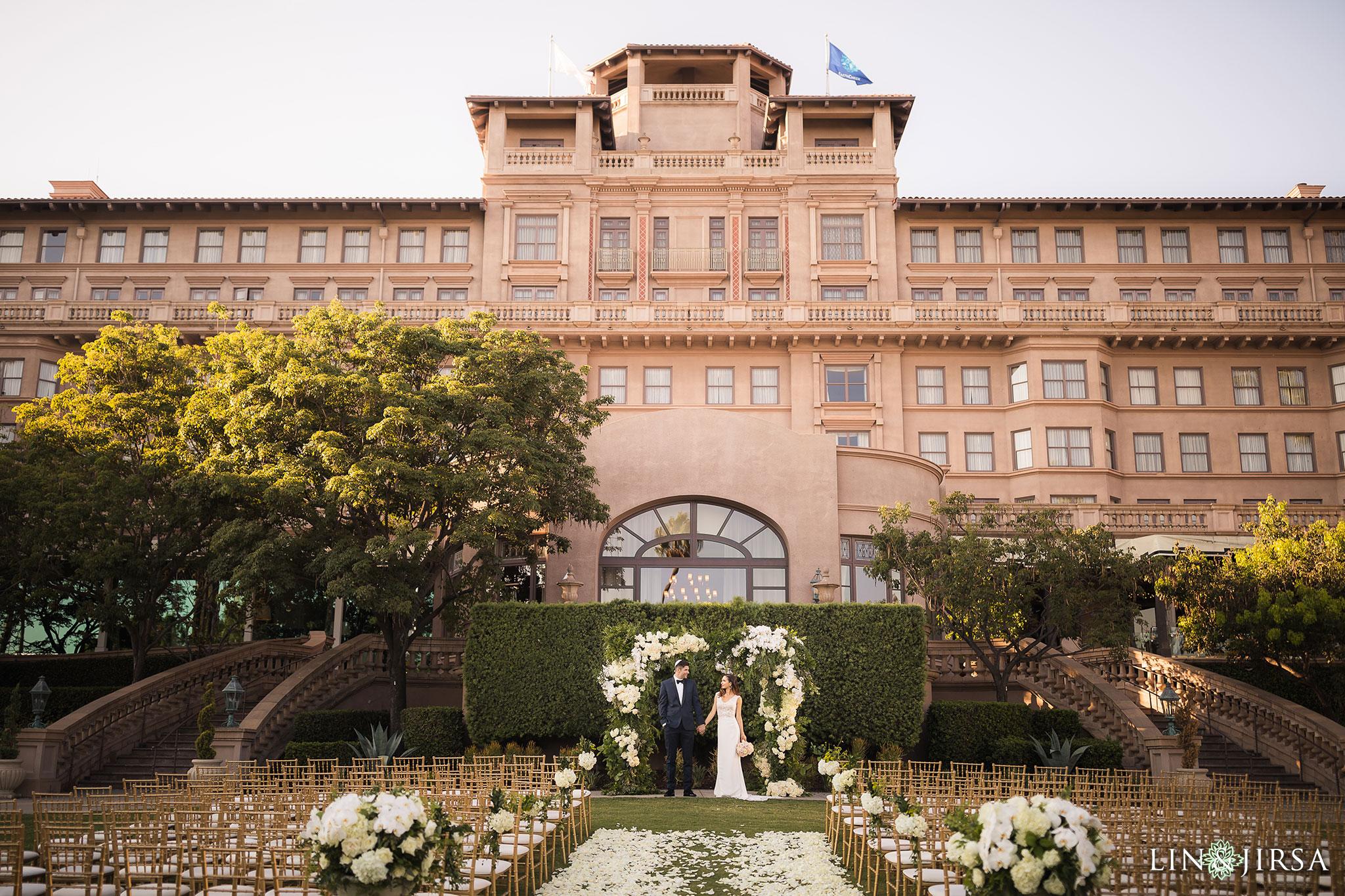 18 langham pasadena jewish couple wedding ceremony photography