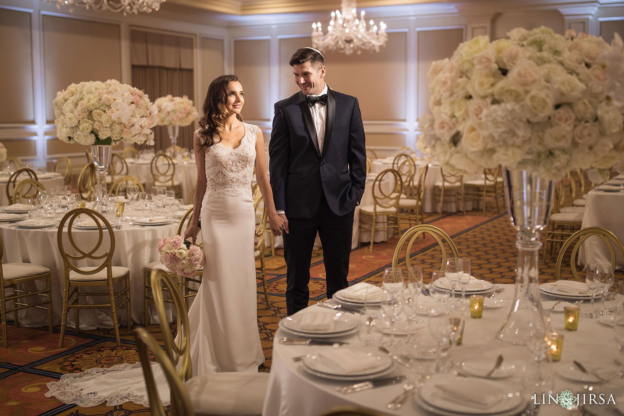 24 langham pasadena jewish couple wedding reception photography