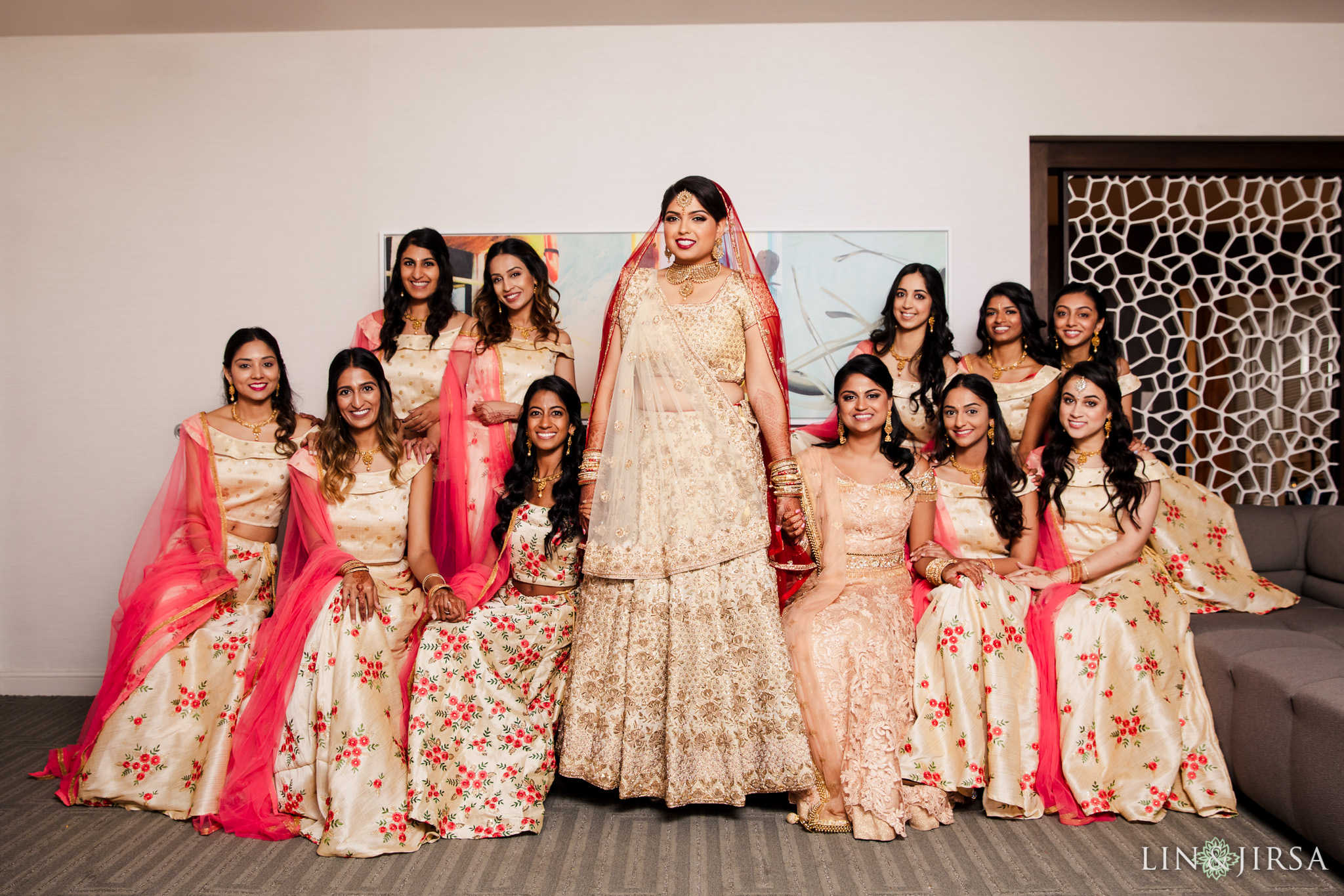 005 Long Beach Performing Arts Center Indian Bridal Party Wedding Photography