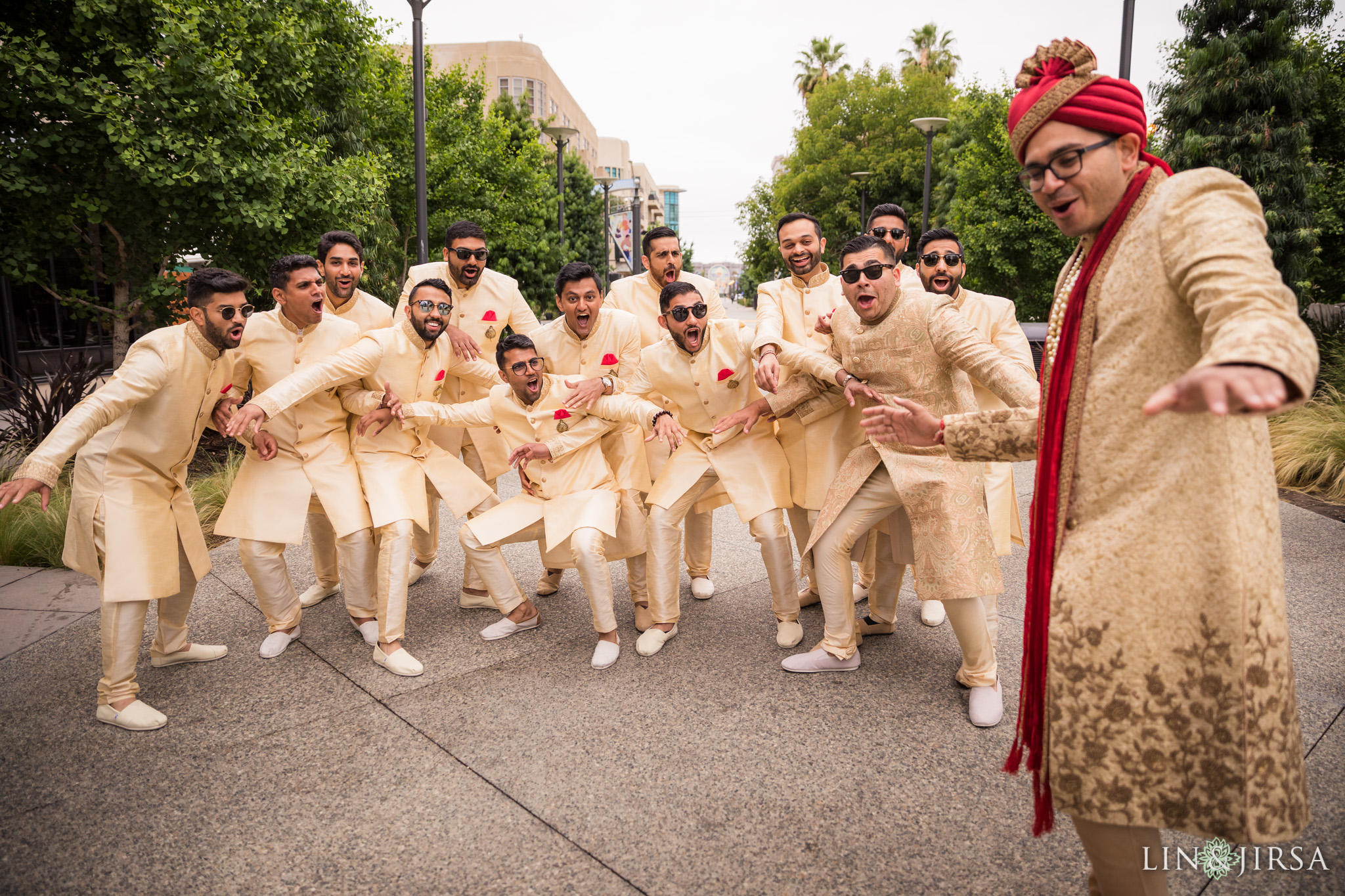 016 Long Beach Performing Arts Center Indian Groomsmen Wedding Photography