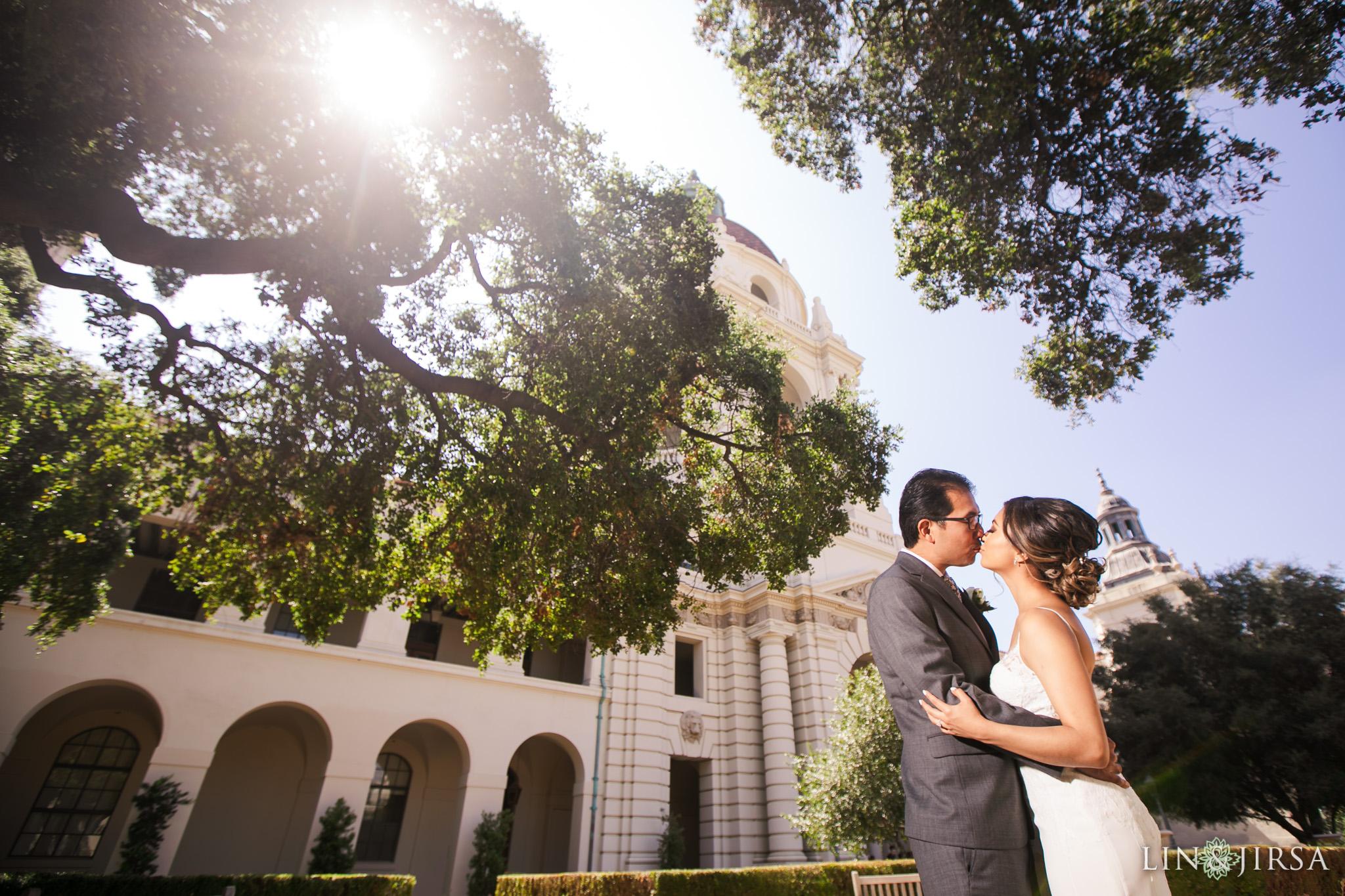 016 pasadena city hall first look wedding photography