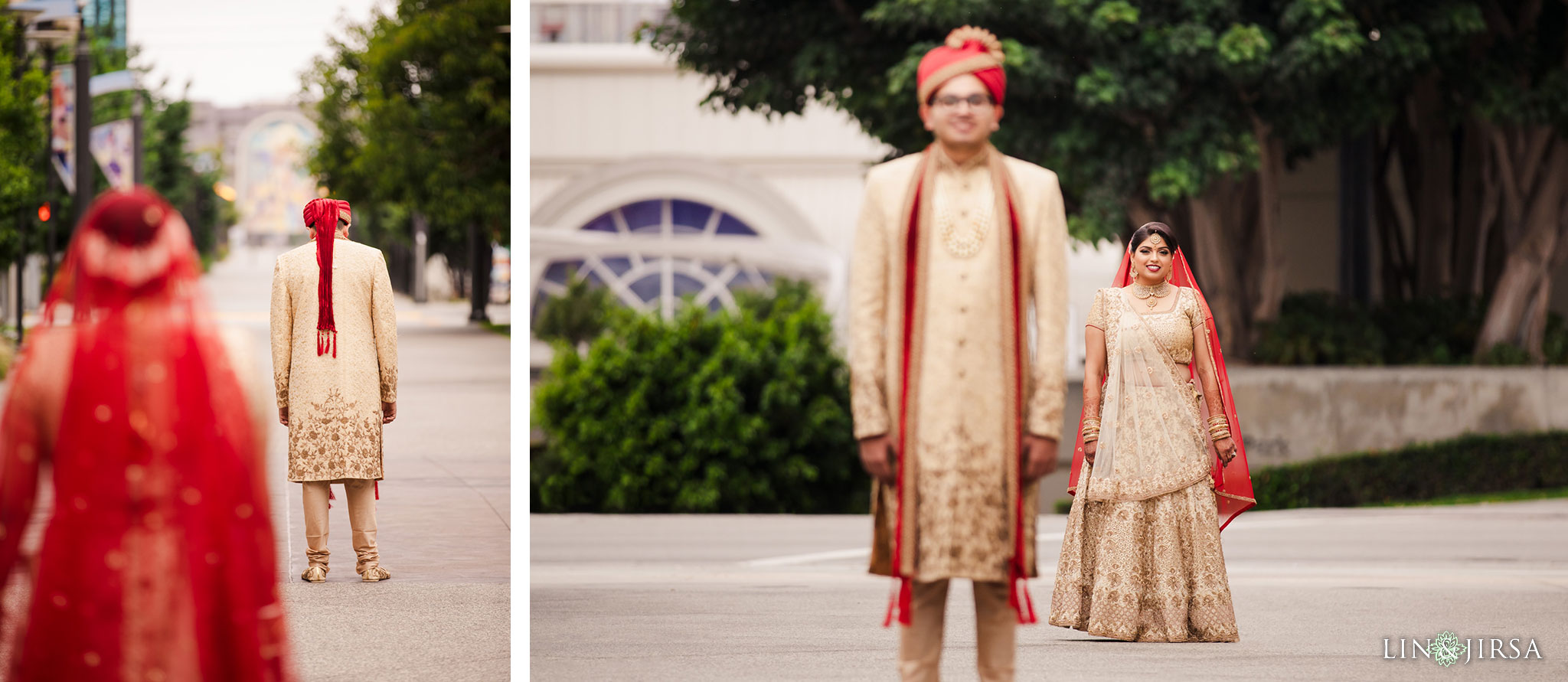 017 Long Beach Performing Arts Center First Look Indian Wedding Photography
