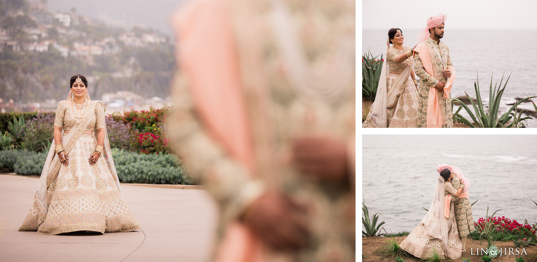 017 montage laguna beach indian couple wedding photography