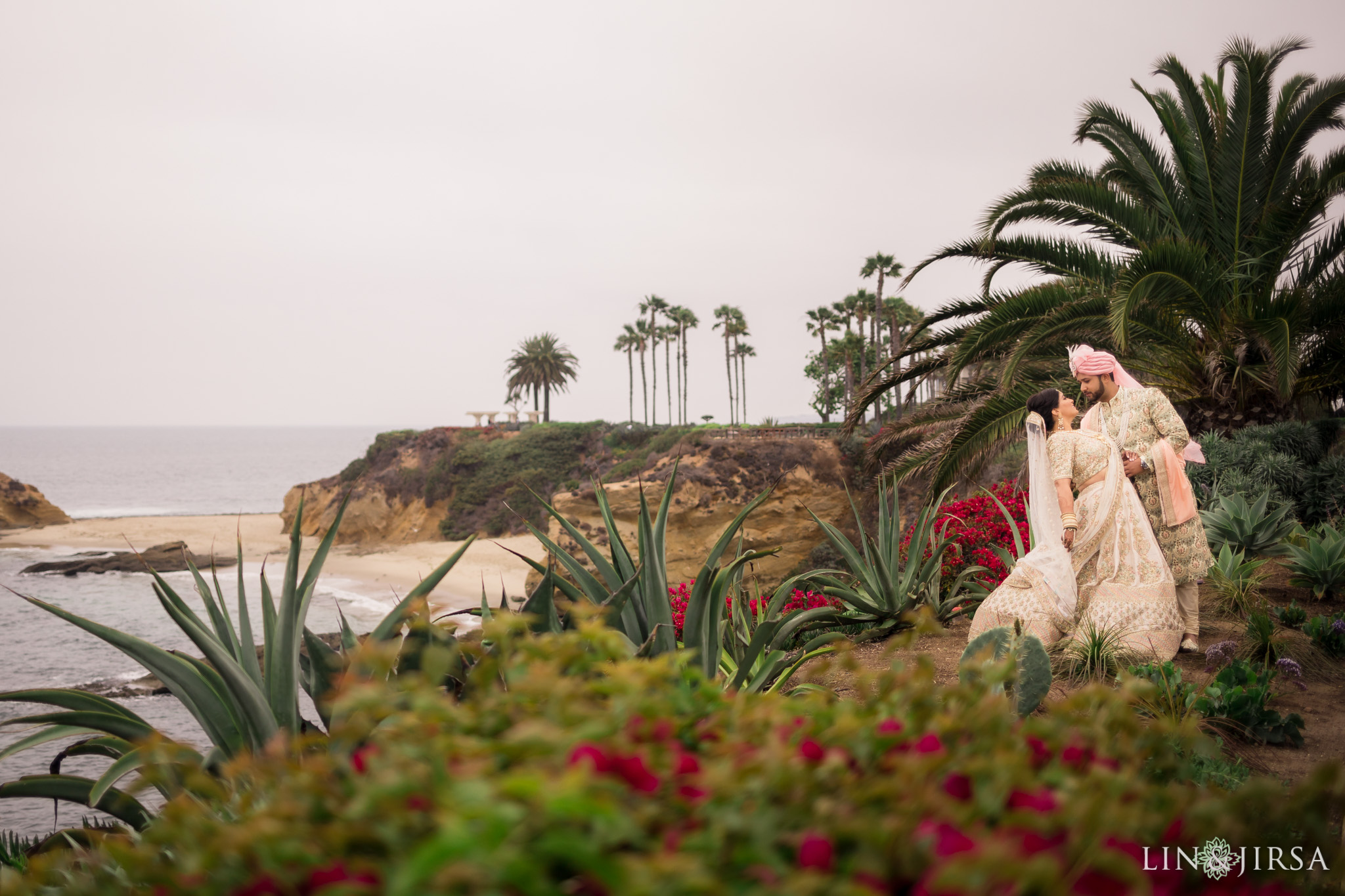 018 montage laguna beach indian couple wedding photography