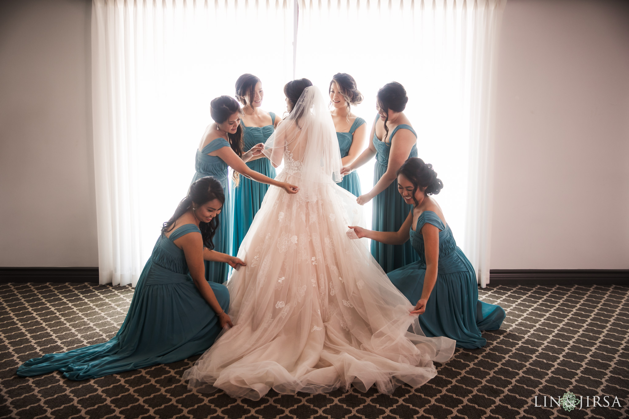 06 bel air bay club malibu bridesmaids wedding photography