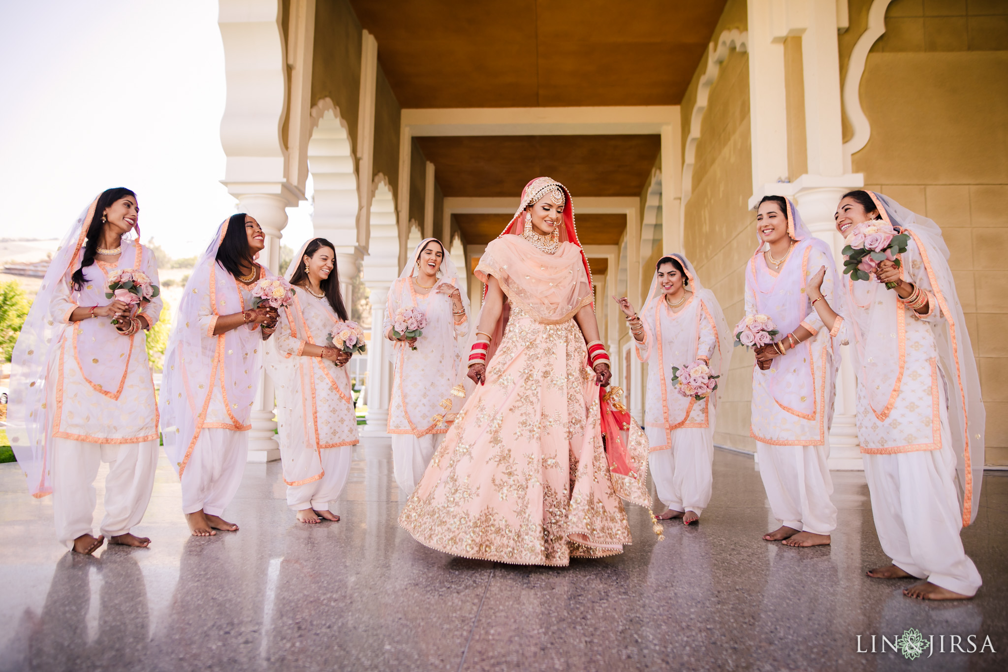 06 gurdwara sahib san jose punjabi sikh indian bridesmaids wedding photography