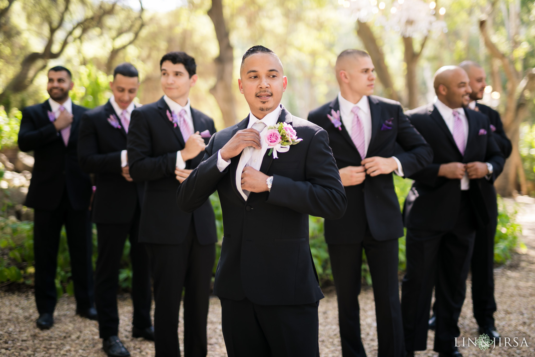 07 calamigos ranch malibu wedding groomsmen photography
