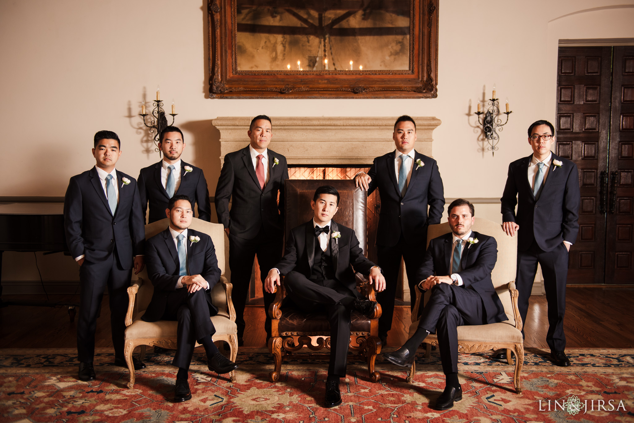 36 bel air bay club malibu groomsmen wedding party photography