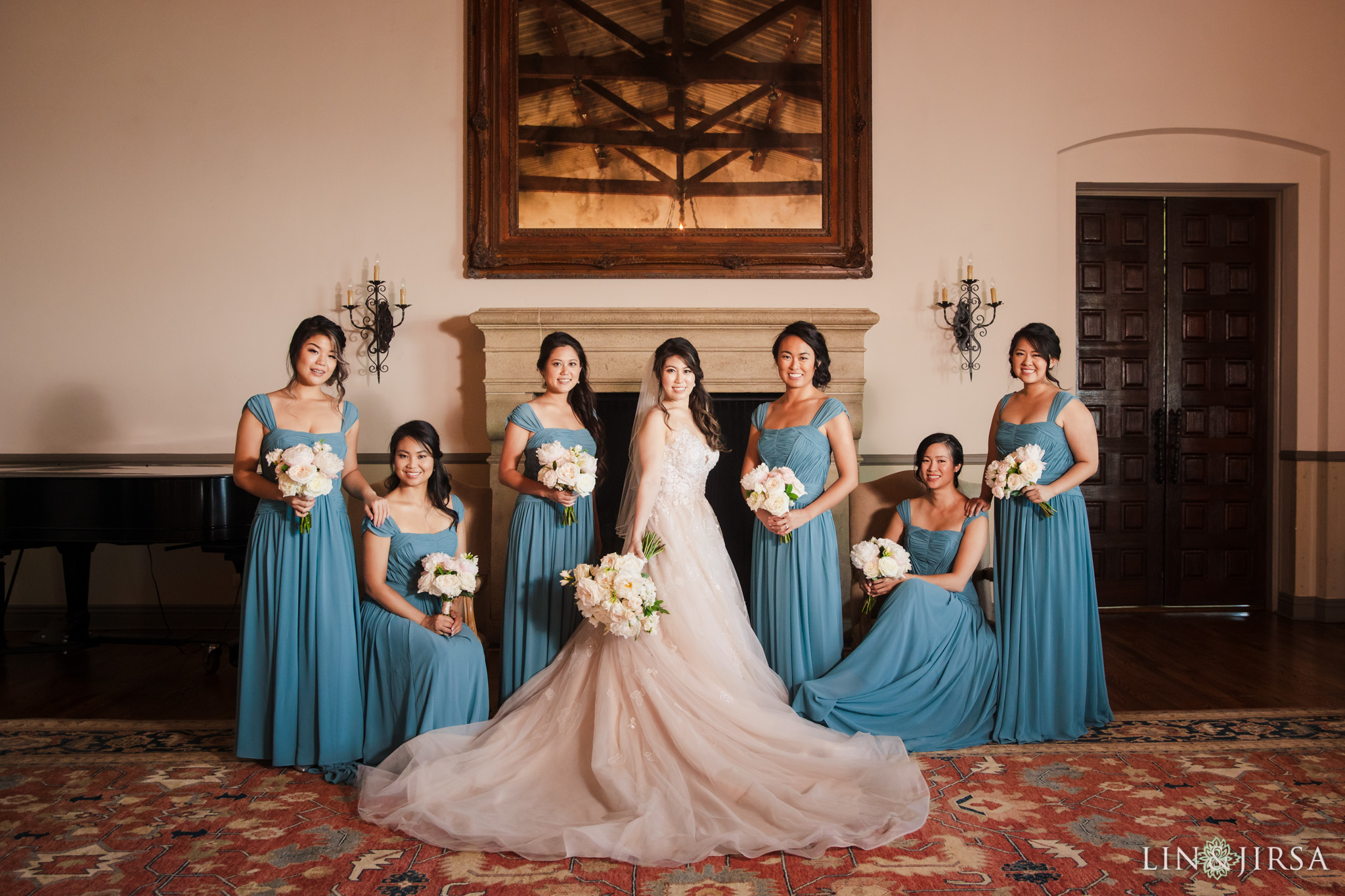 37 bel air bay club malibu bridesmaids wedding party photography