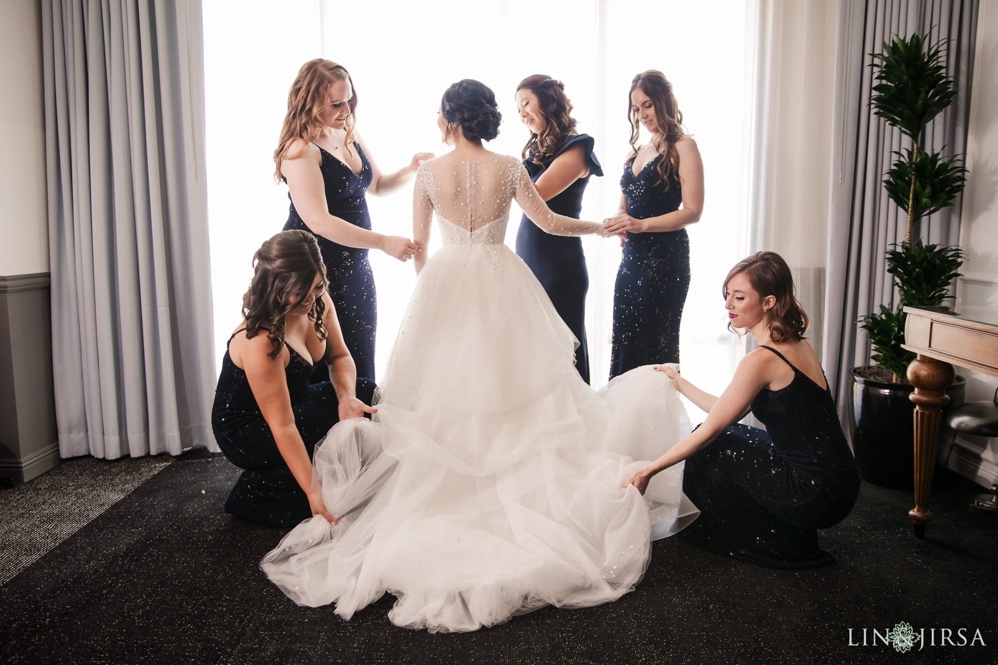 005 museum of art san diego bridesmaids wedding photography