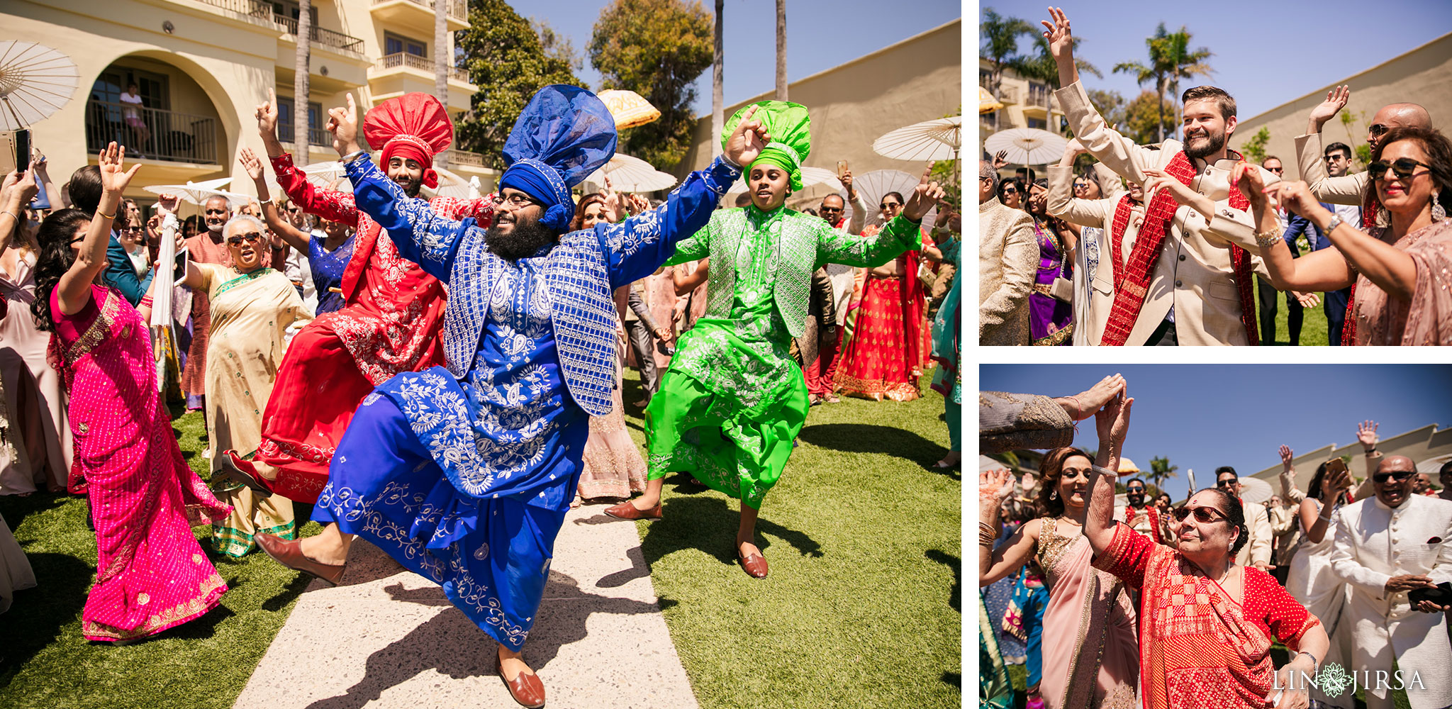 009 ritz carlton laguna niguel indian baraat bhangra wedding photography