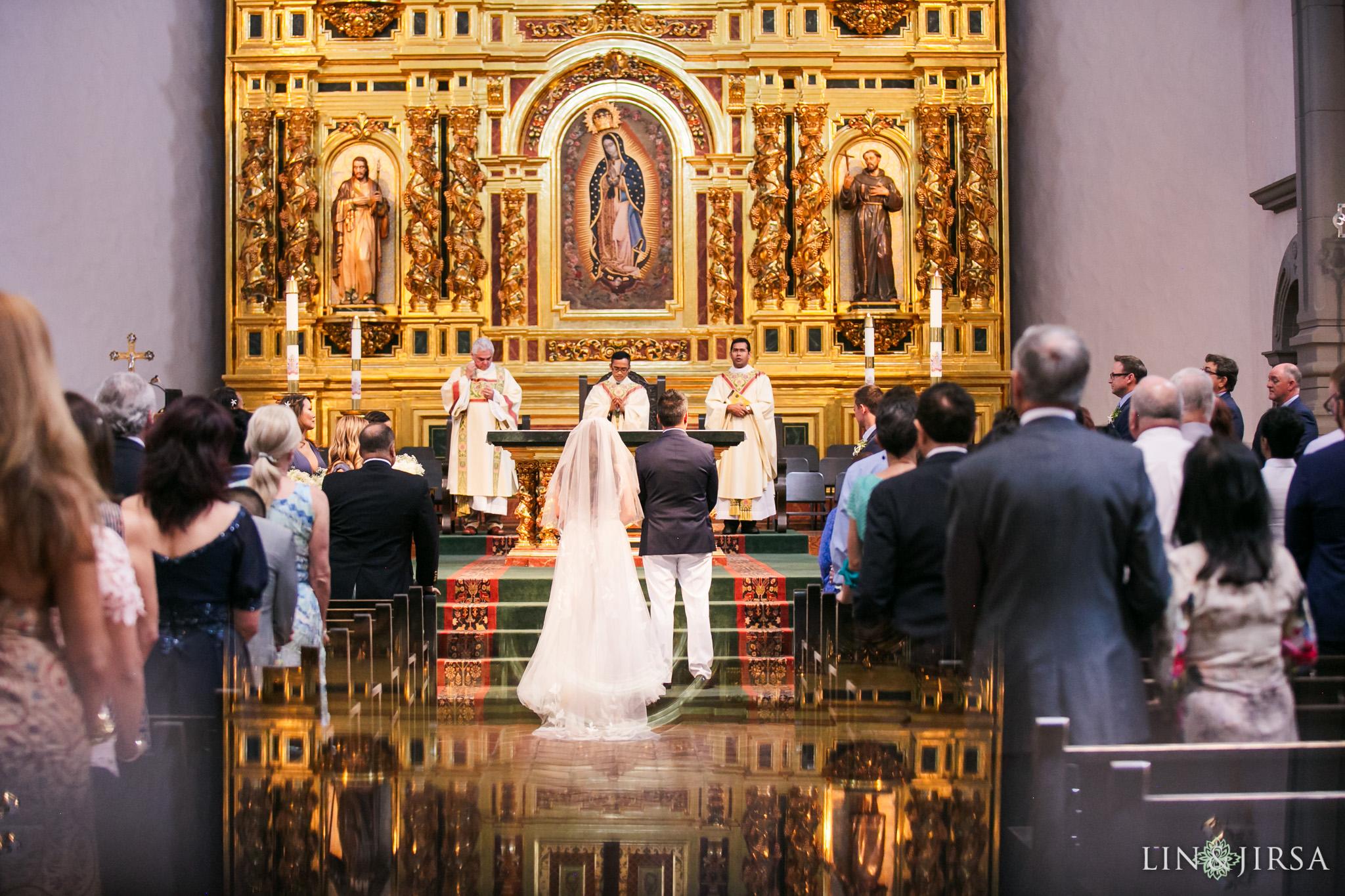 014 mission basilica san juan capistrano wedding ceremony photography