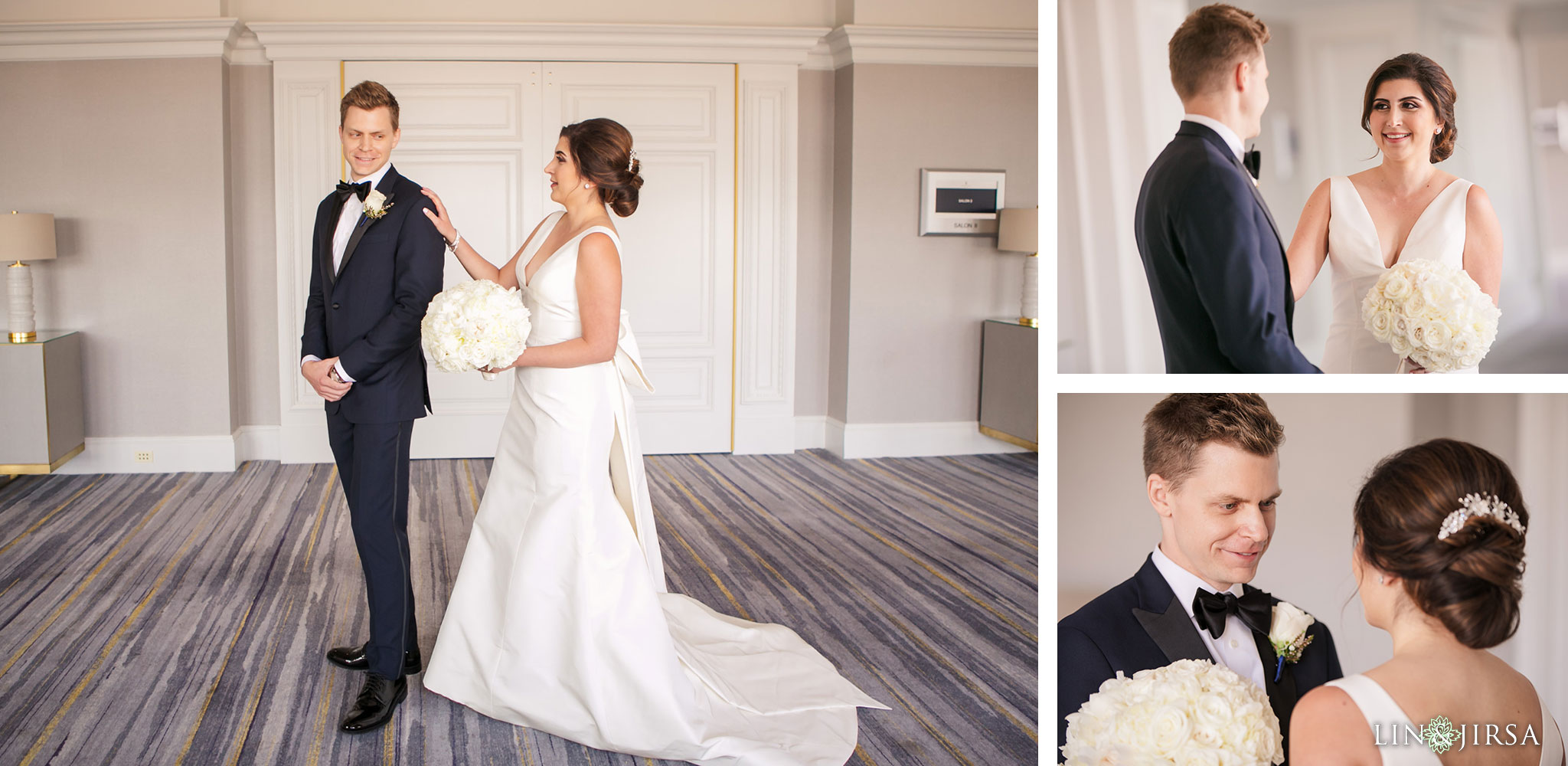 014 ritz carlton marina del rey persian first look wedding photography