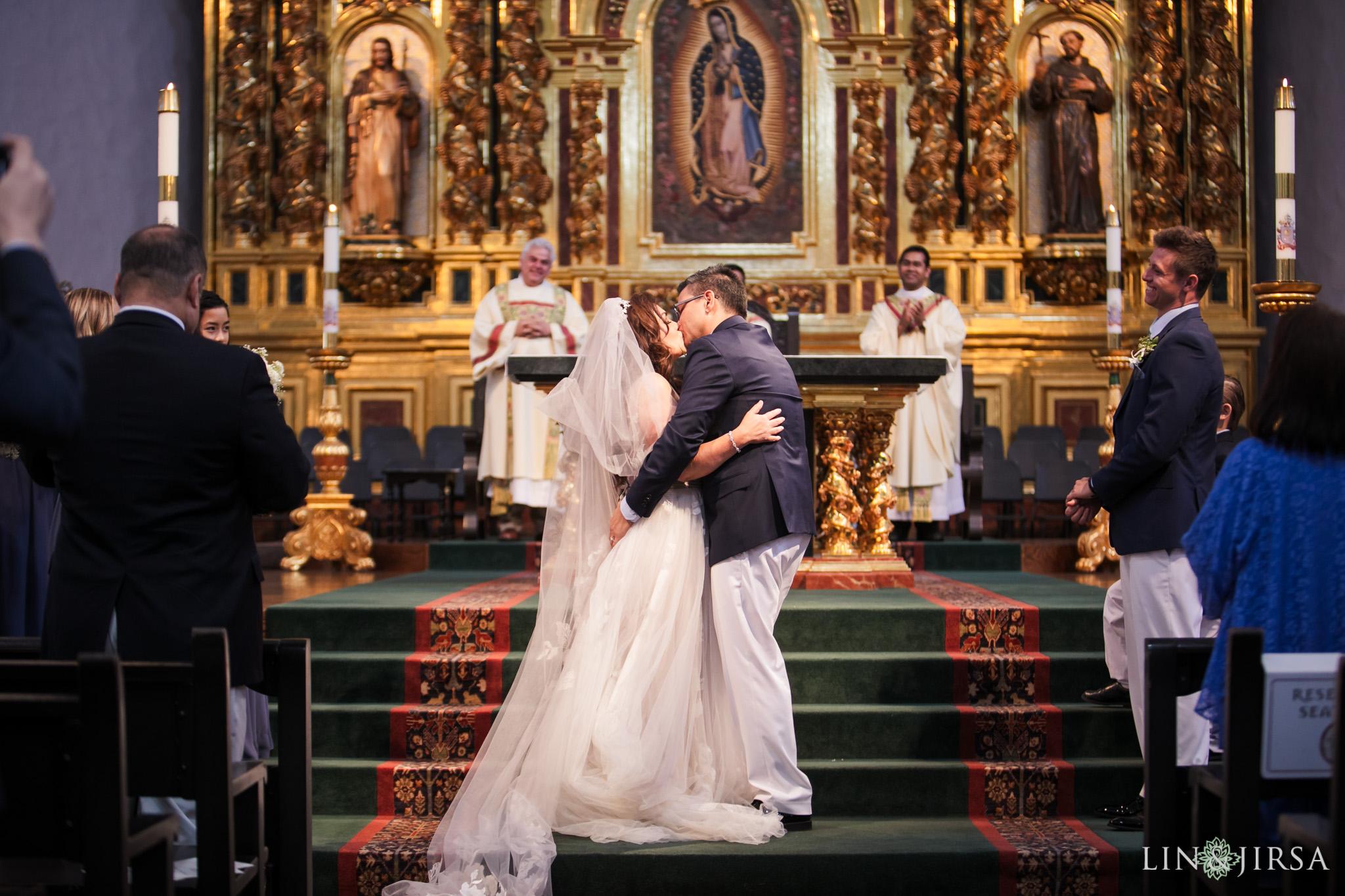 016 mission basilica san juan capistrano wedding ceremony photography