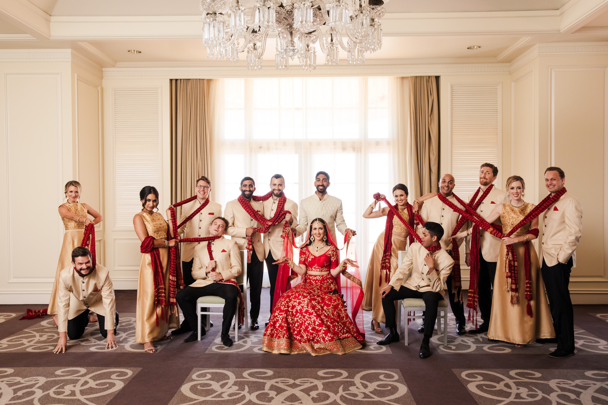 023 ritz carlton laguna niguel indian wedding party photography