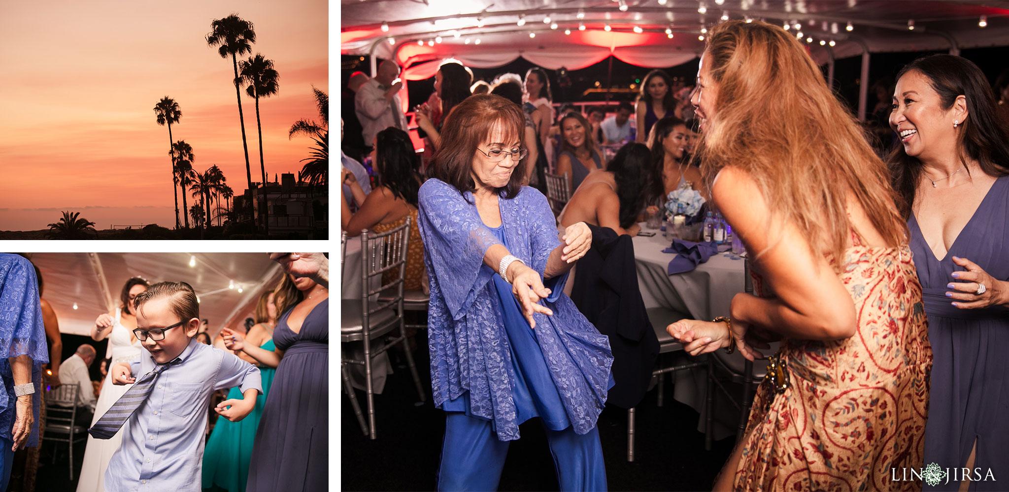 024 charter yachts newport beach wedding reception photography