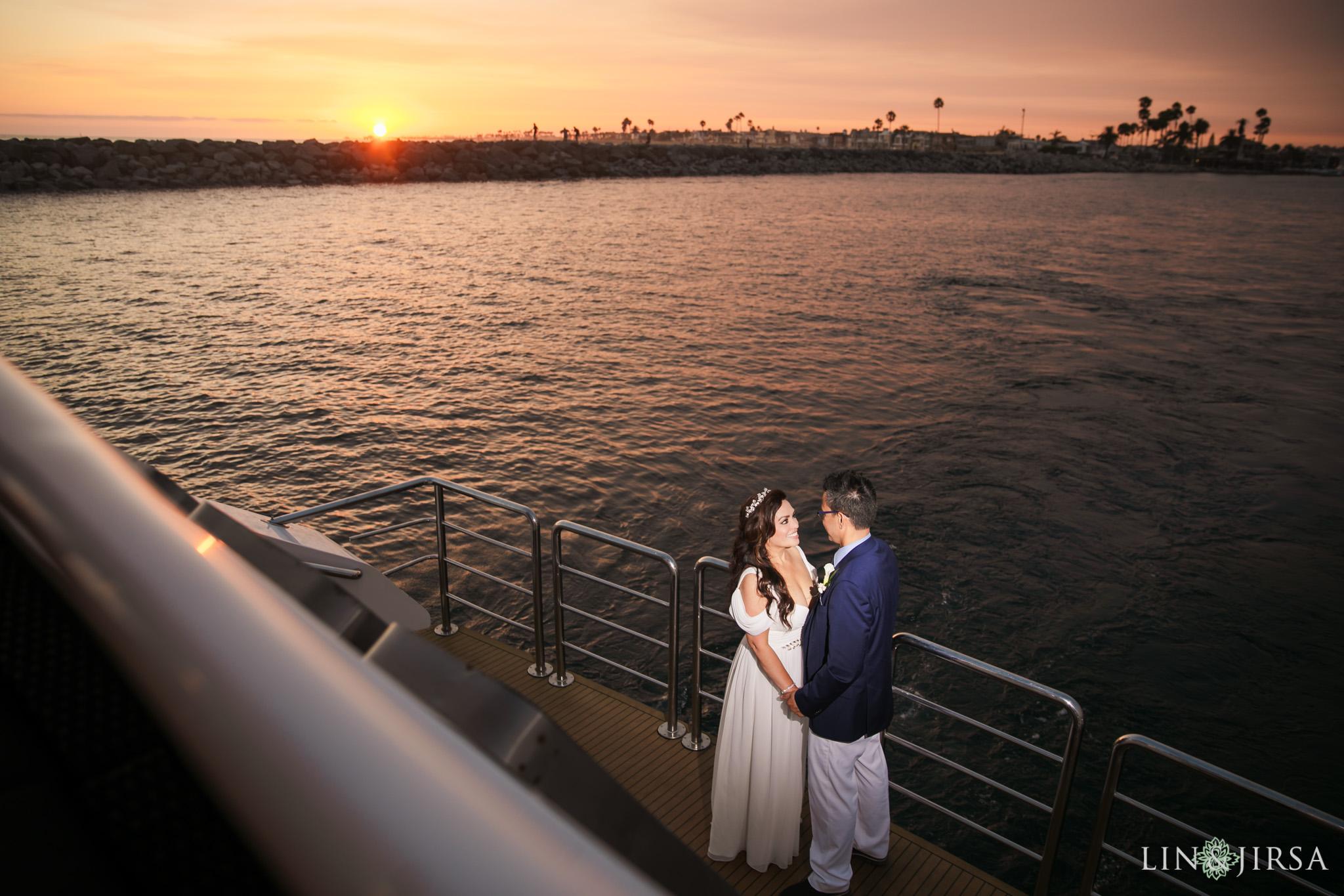 025 charter yachts newport beach wedding reception sunset photography