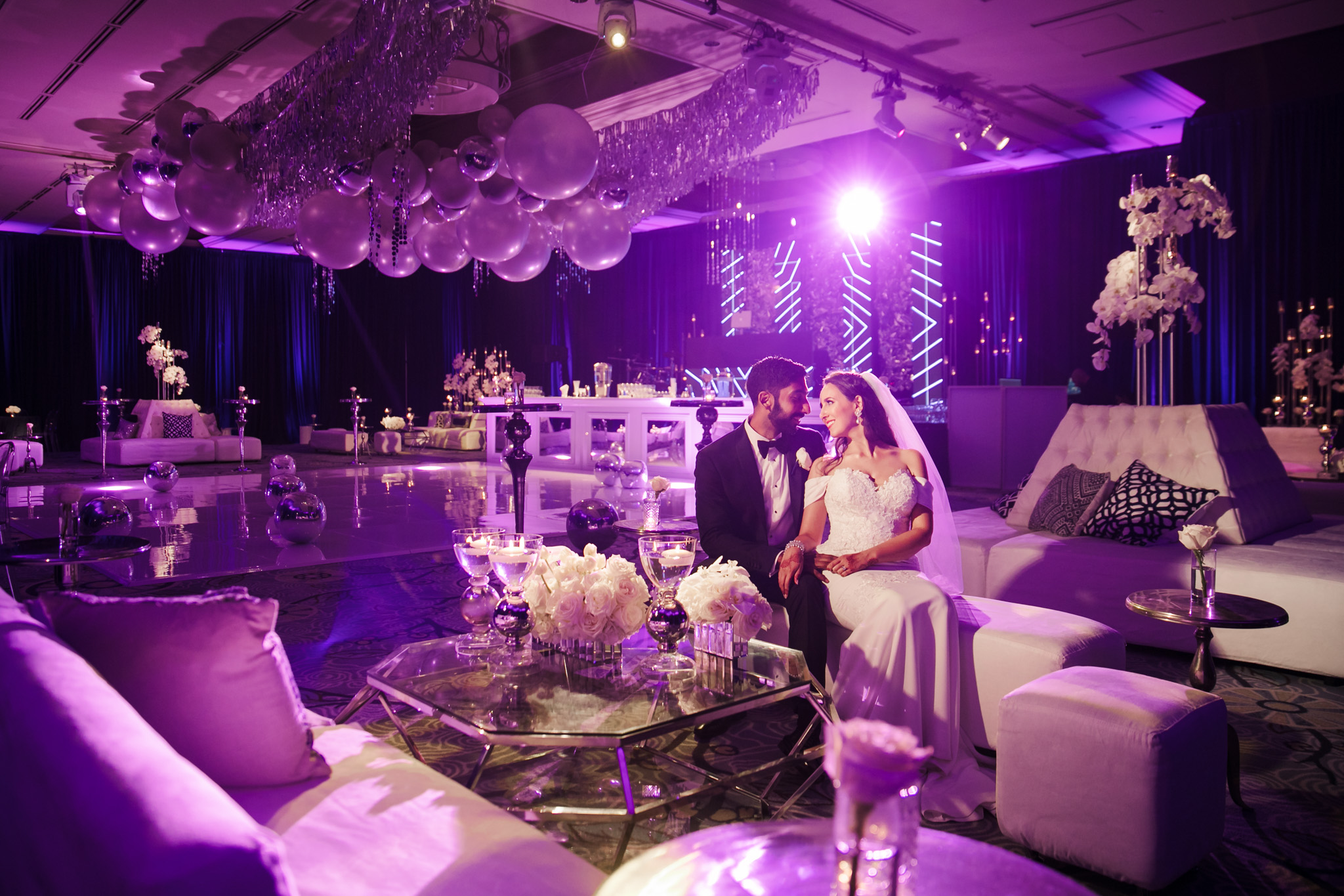 056 ritz carlton laguna niguel indian wedding purple reception photography