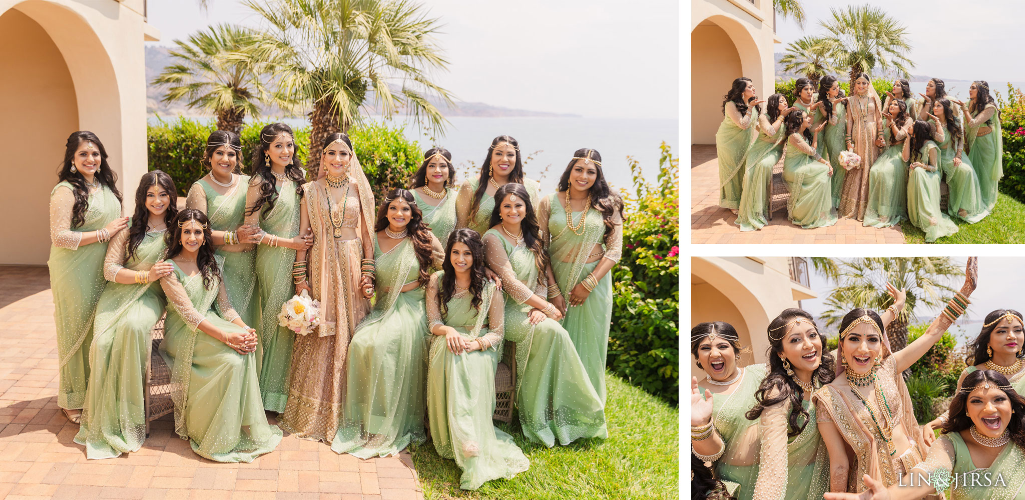 010 terranea resort palos verdes bridal party indian wedding photography