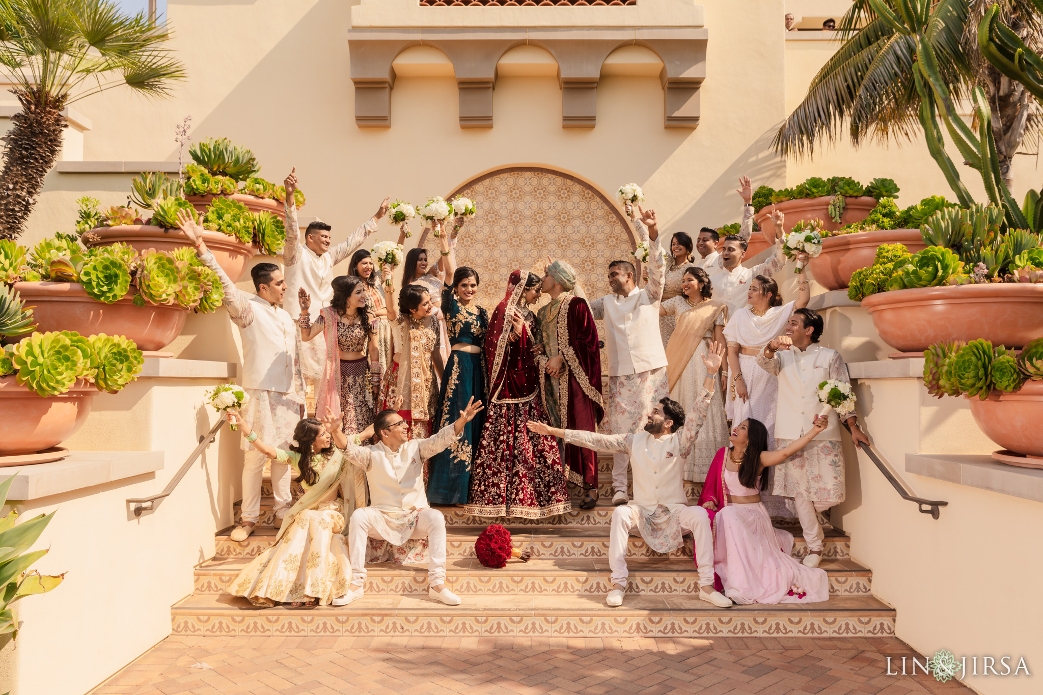 023 terranea resort indian wedding party sabyasachi photography