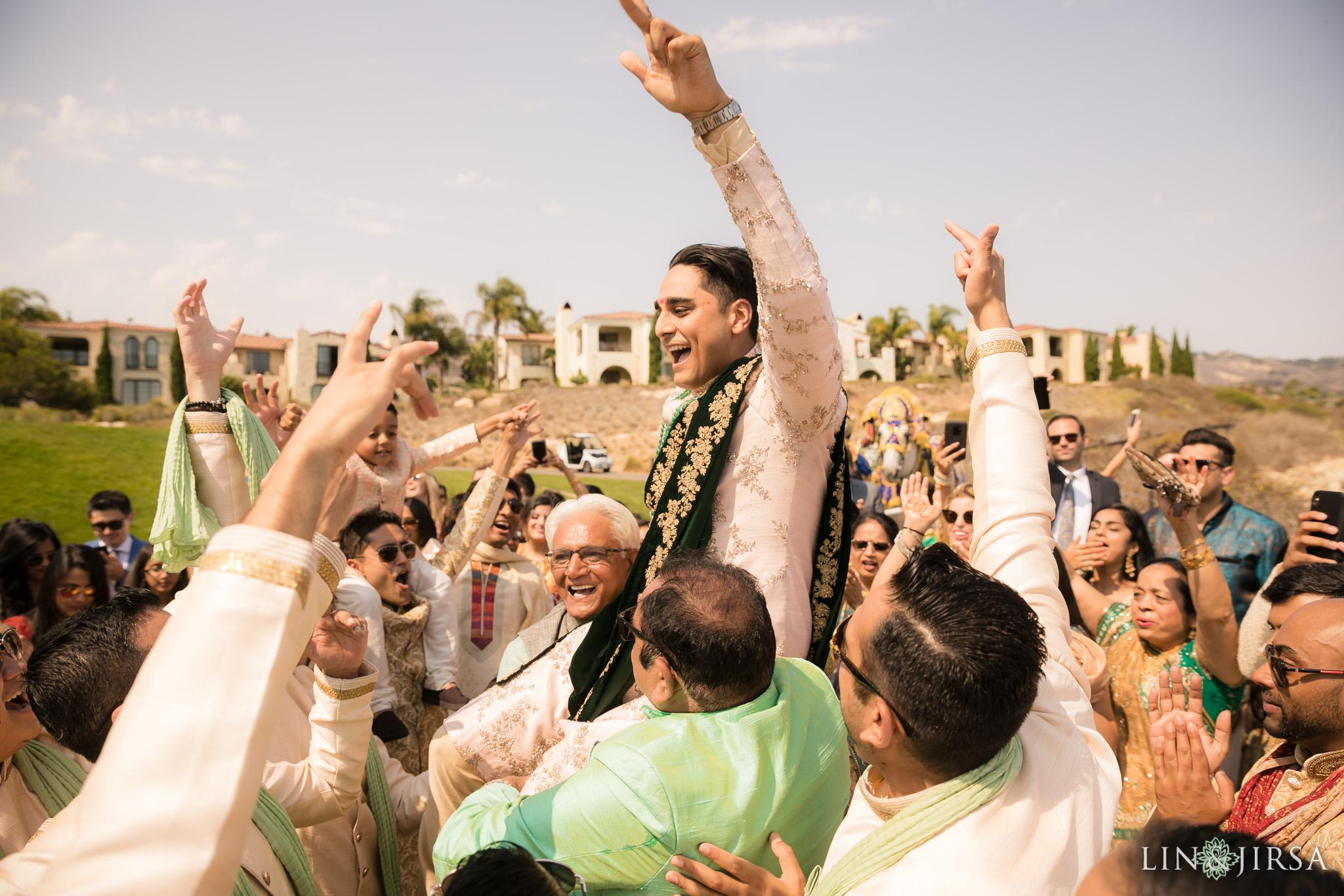 025 terranea resort palos verdes indian baraat wedding photography
