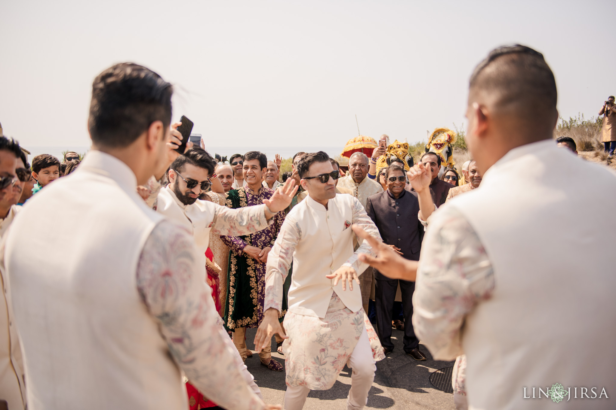 025 terranea resort rancho palos verdes indian wedding baraat photography