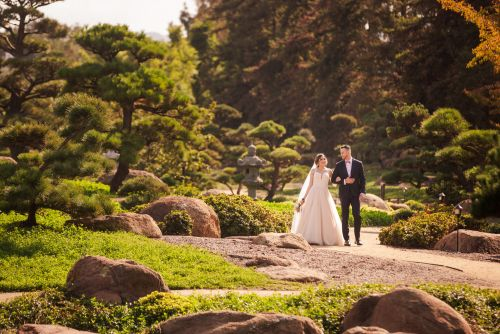 japanese garden signal hill wedding