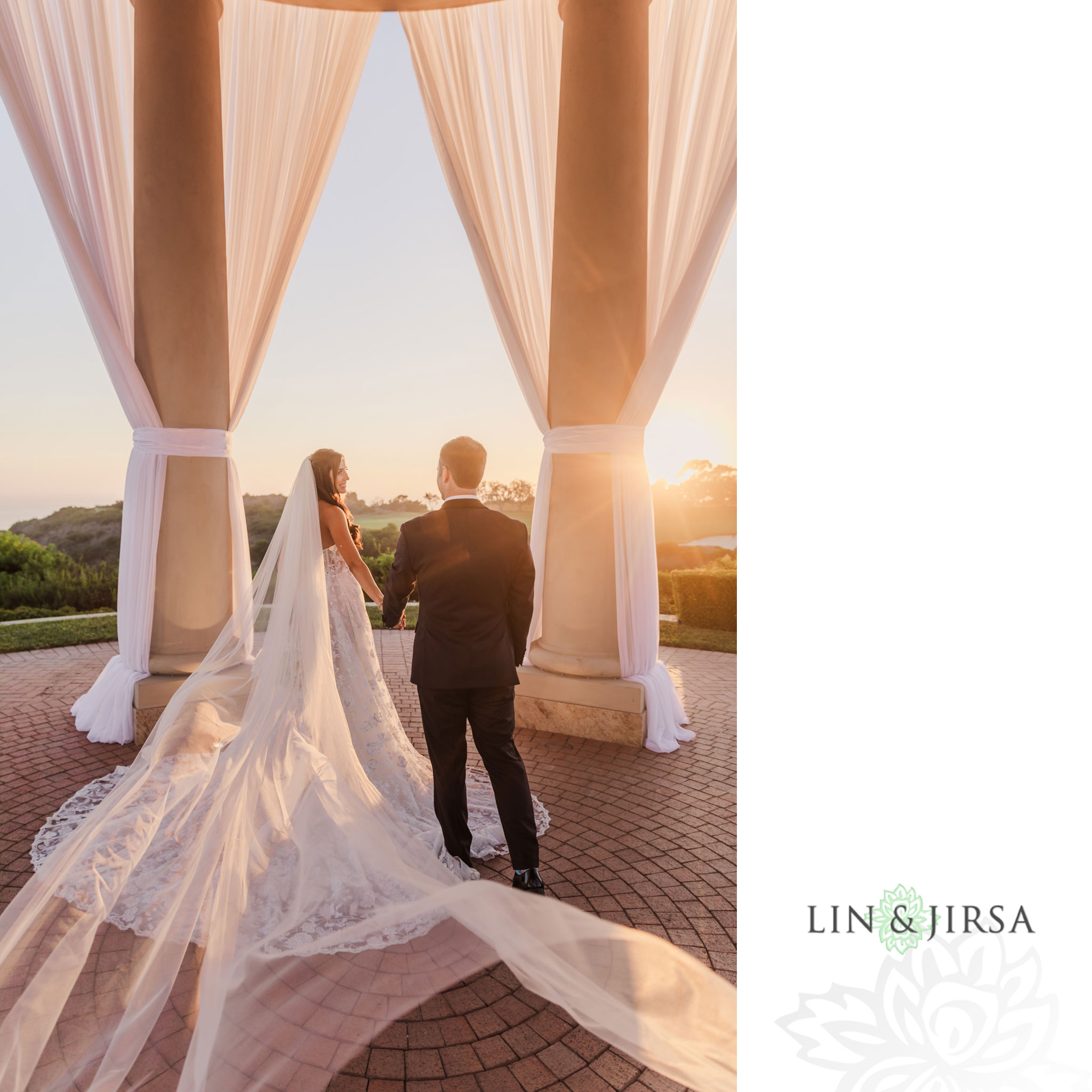 85 pelican hill orange county sunset wedding photography