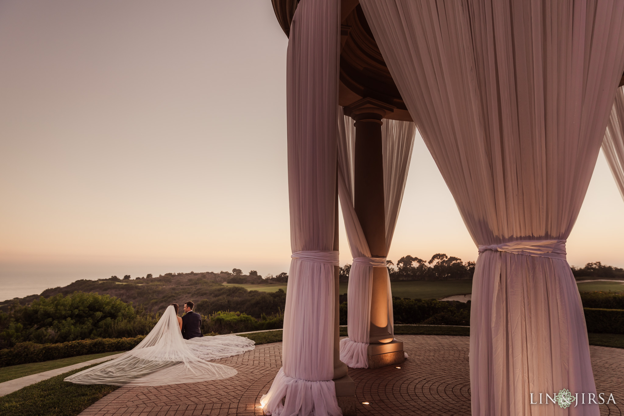 88 pelican hill orange county sunset wedding photography