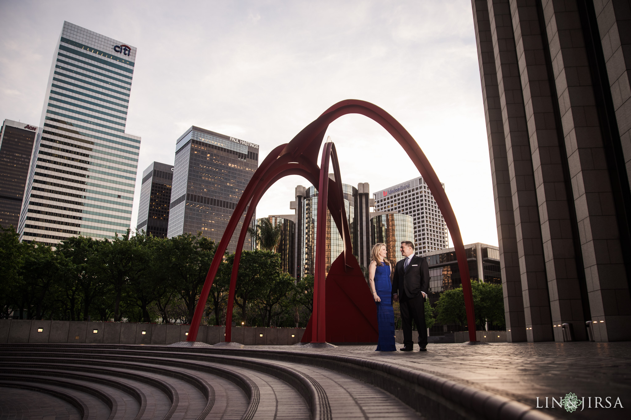 09 Downtown Los Angeles Engagement Photography