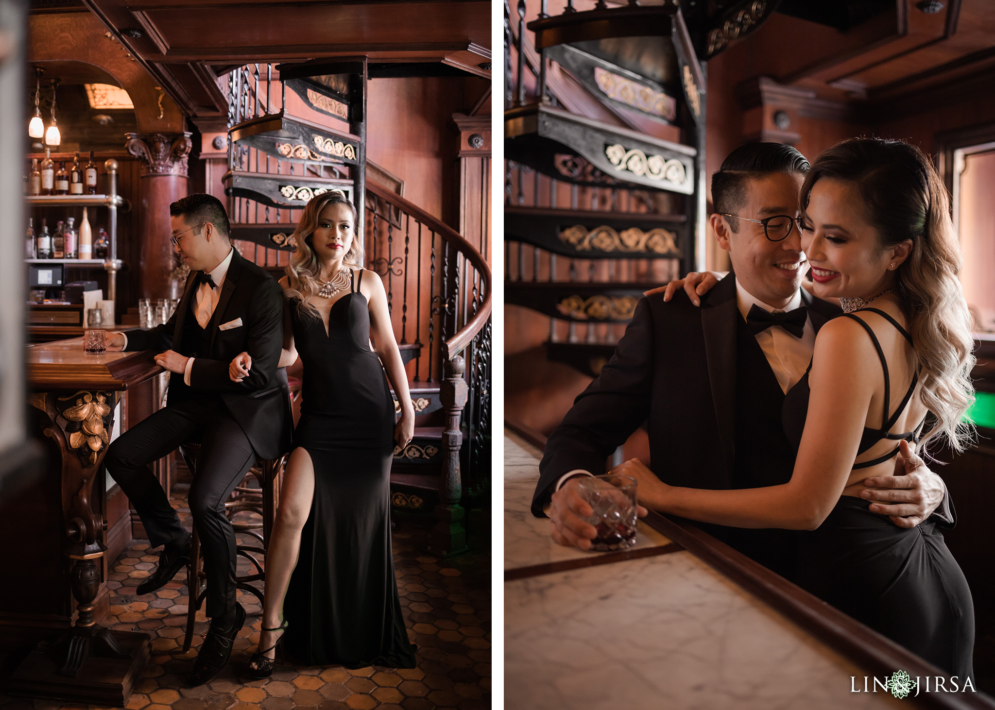 03 The Wolves DTLA Bar Los Angeles Engagement Photography