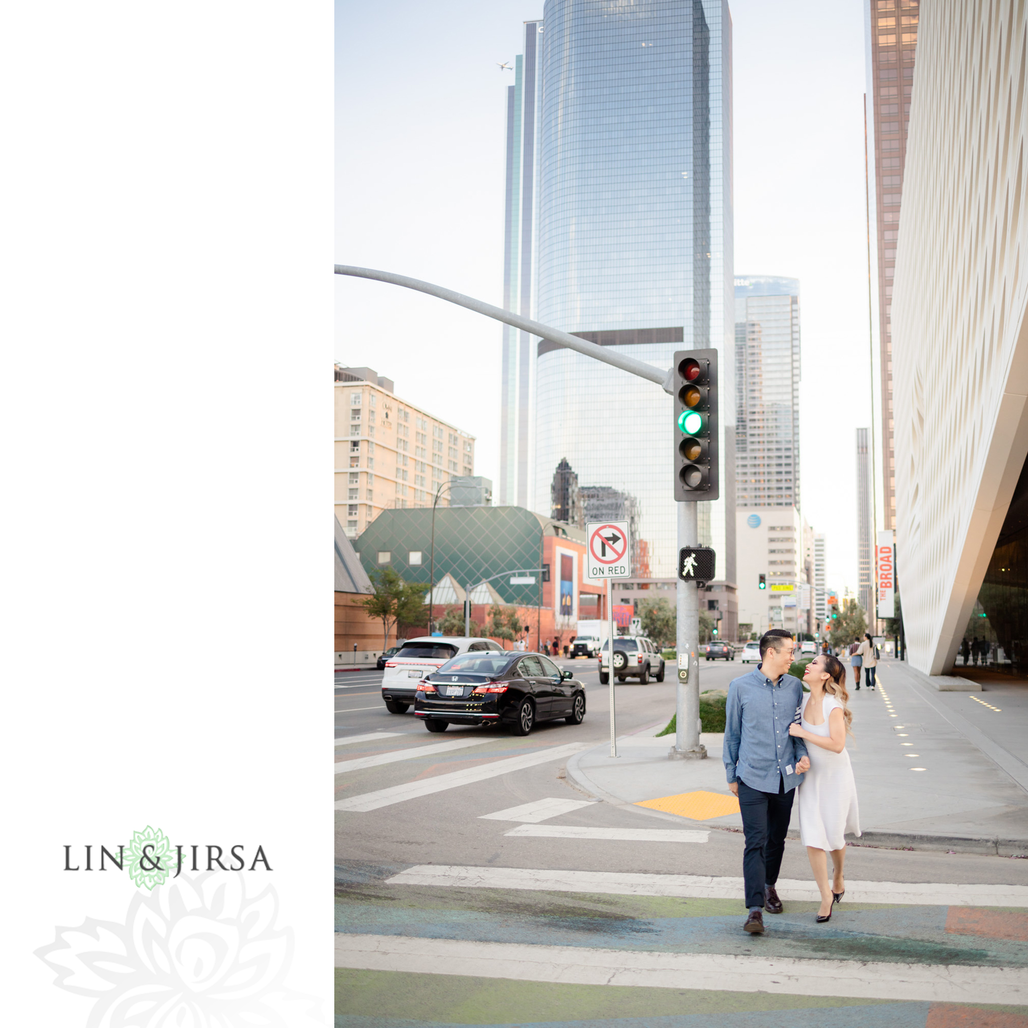 14 Downtown Los Angeles Engagement Street Photography