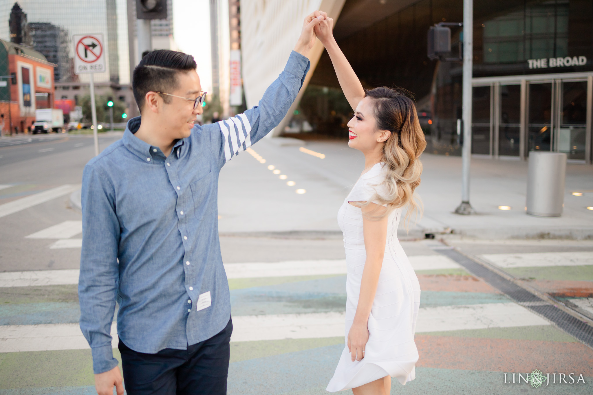 15 Downtown Los Angeles Engagement Street Photography