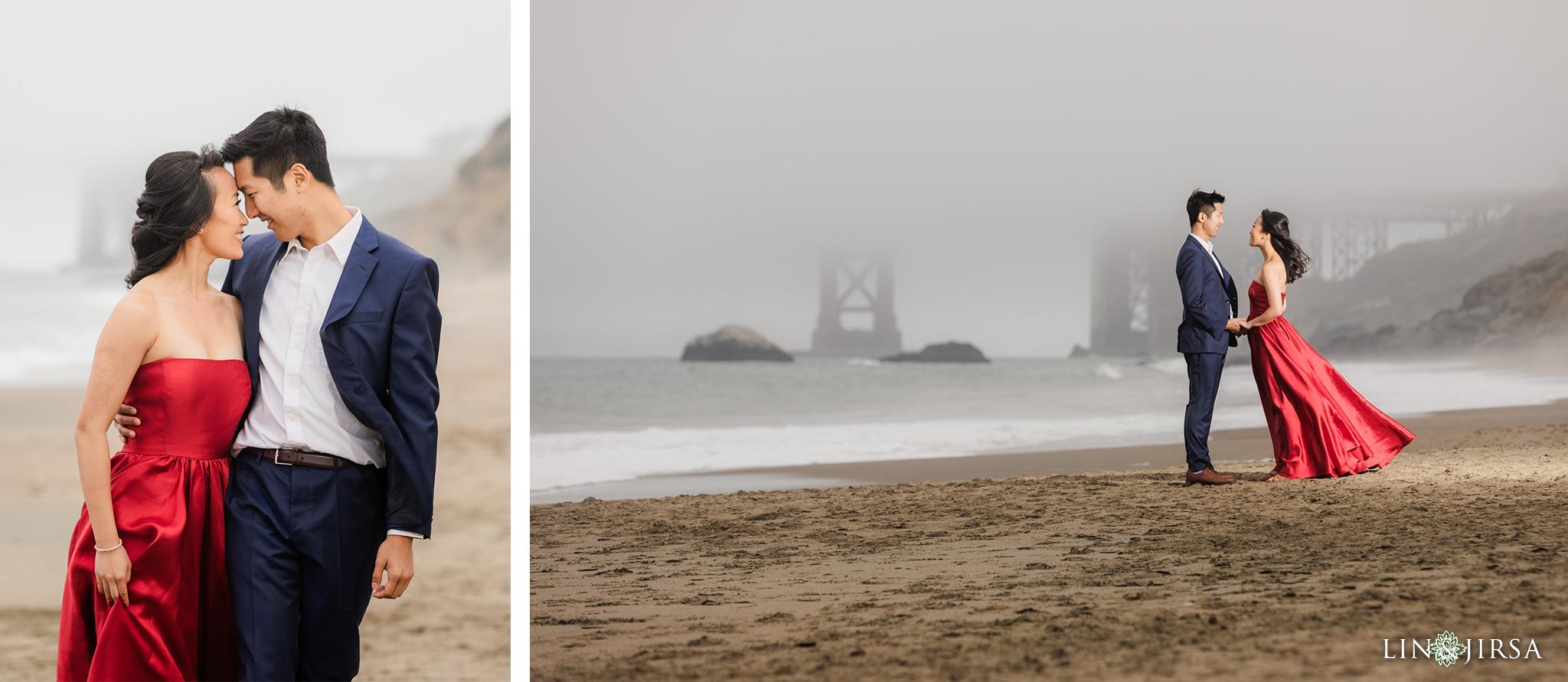 06 Lands End Trail Karl the Fog San Francisco Engagement Photography
