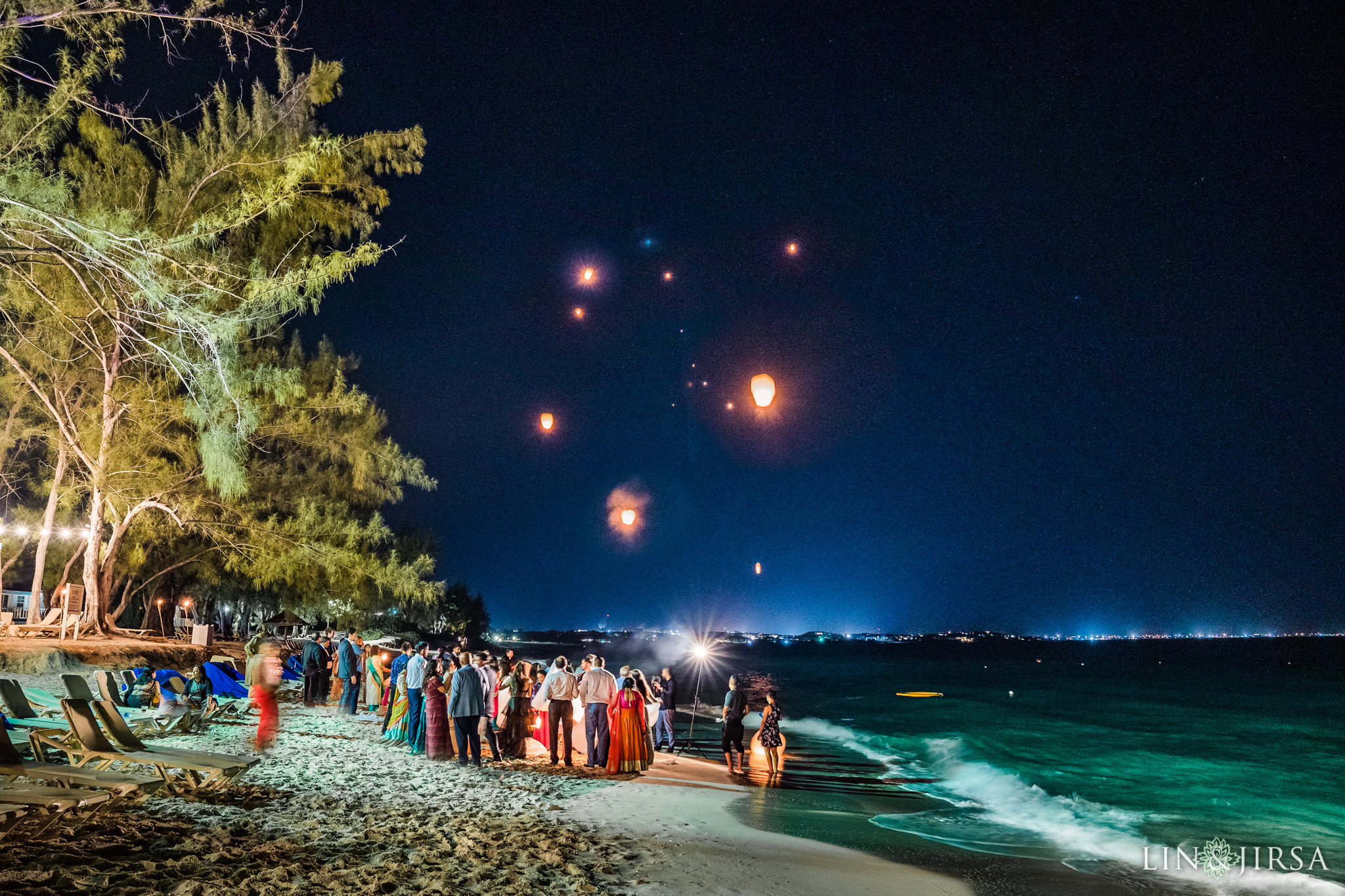 53 Turks and Caicos Floating Sky Lanterns Indian Wedding Photography