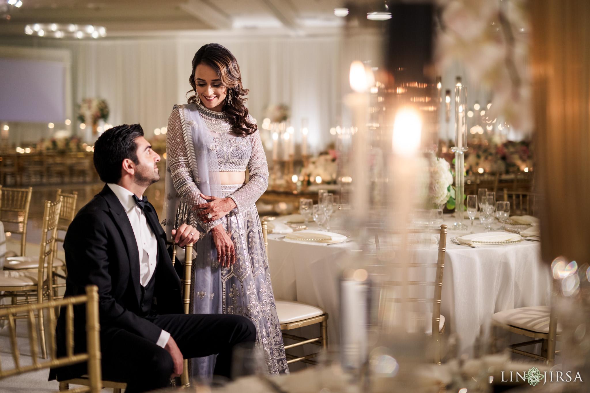15 Hilton Santa Barbara Beachfront Resort Indian Wedding Reception Photography