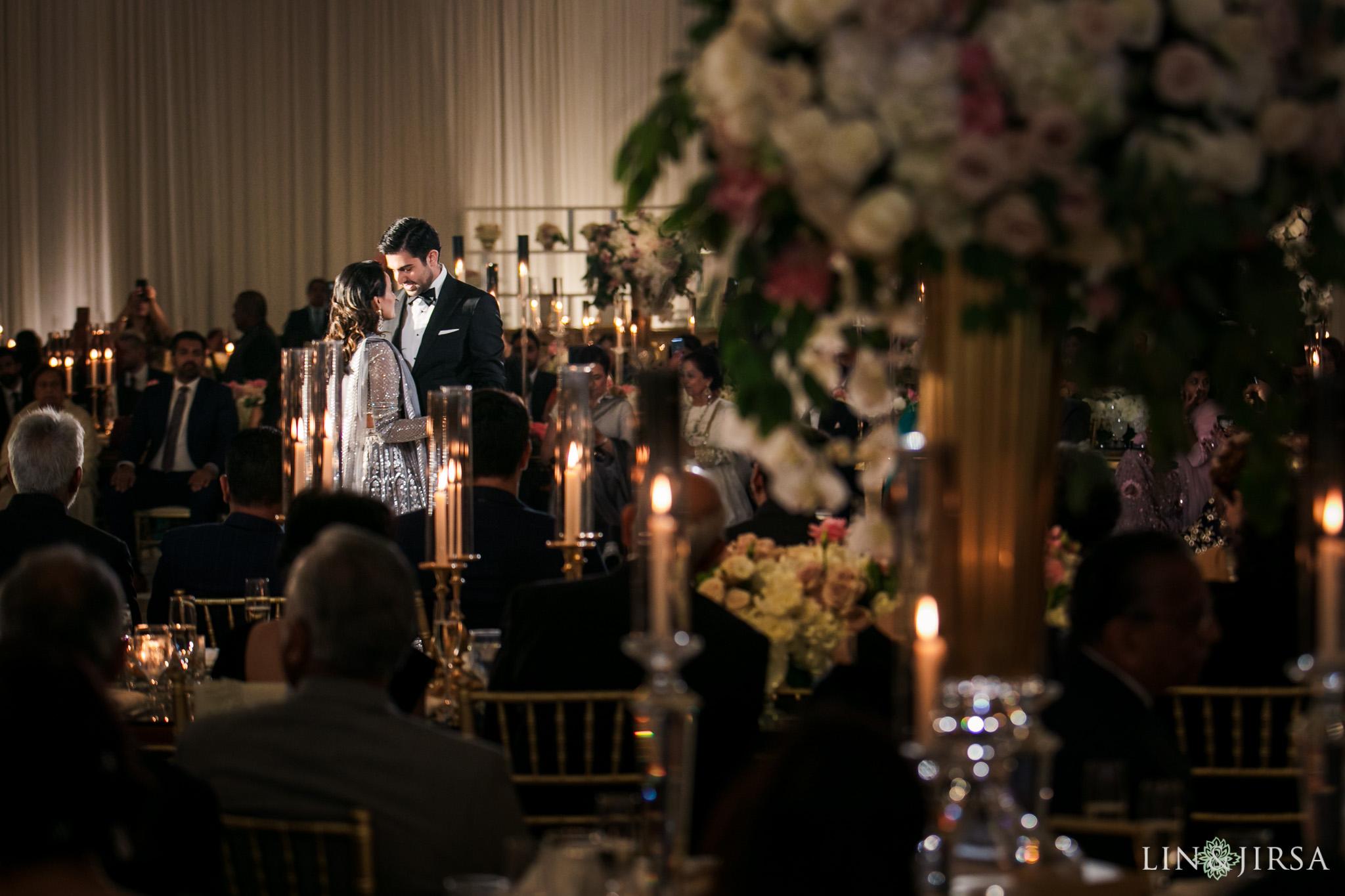 19 Hilton Santa Barbara Beachfront Resort Indian Wedding Reception Photography
